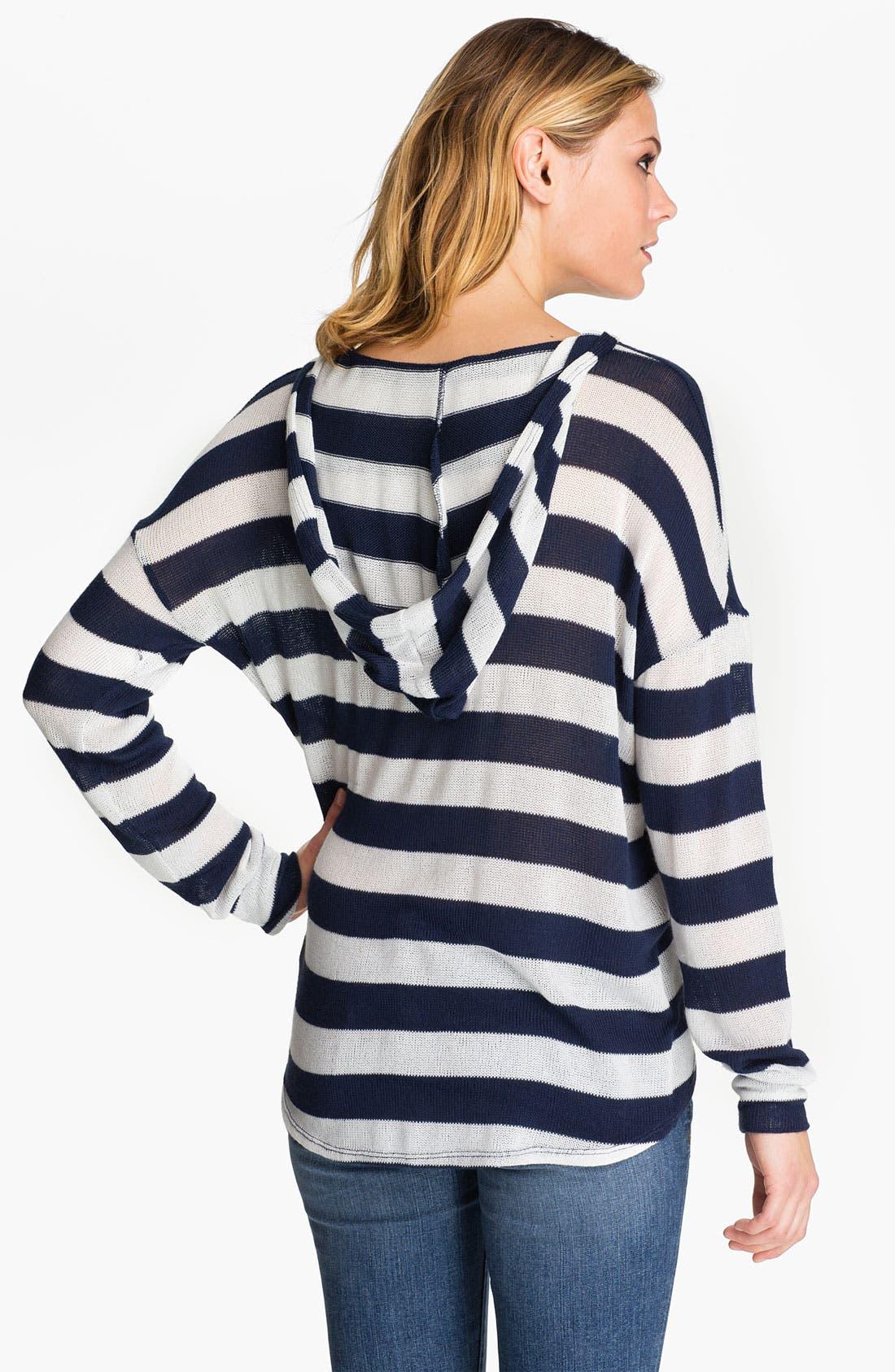 Alternate Image 2  - Soft Joie 'Erickson' Stripe Hooded Sweater