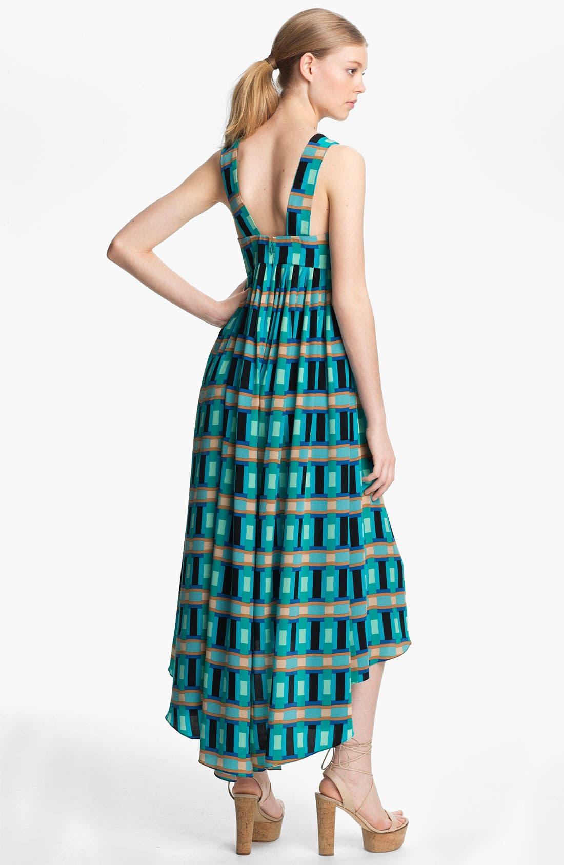 Alternate Image 2  - Tracy Reese 'Bright Blocks' Silk Halter Dress