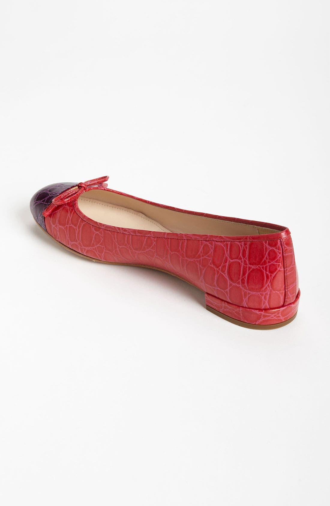 Alternate Image 2  - Prada Croco Cap Toe Ballet Flat