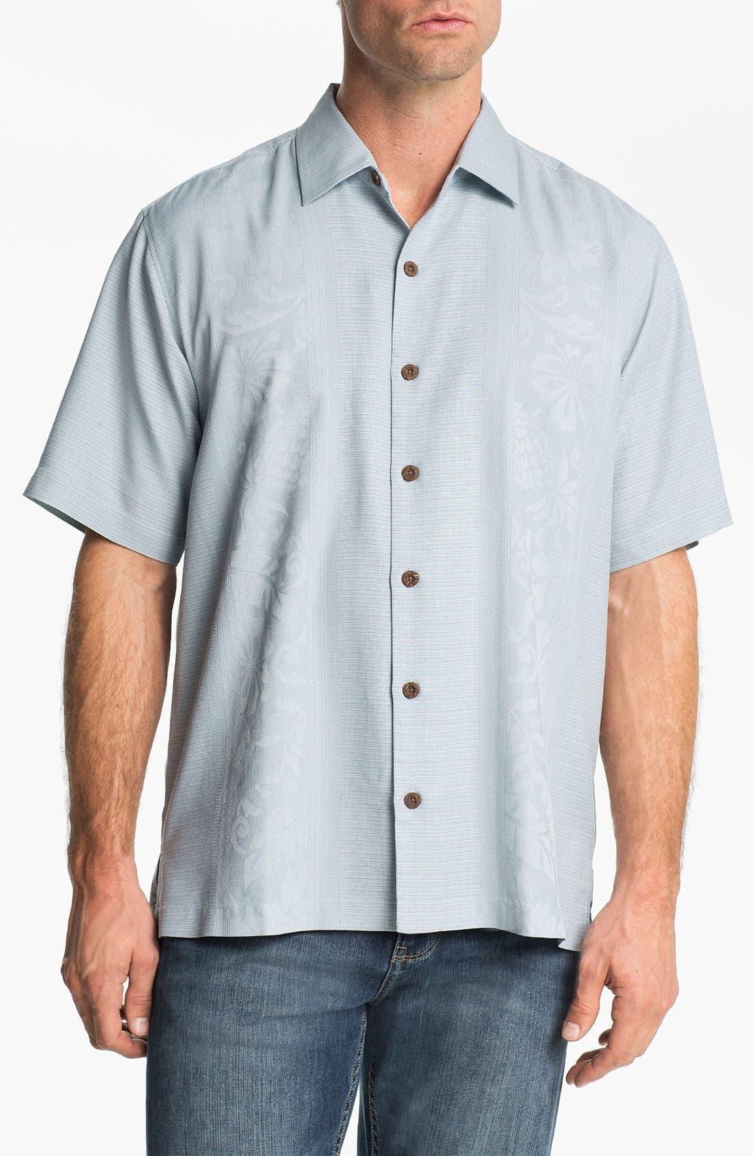 Alternate Image 1 Selected - Tommy Bahama 'Amazon' Original Fit Silk Jacquard Camp Shirt
