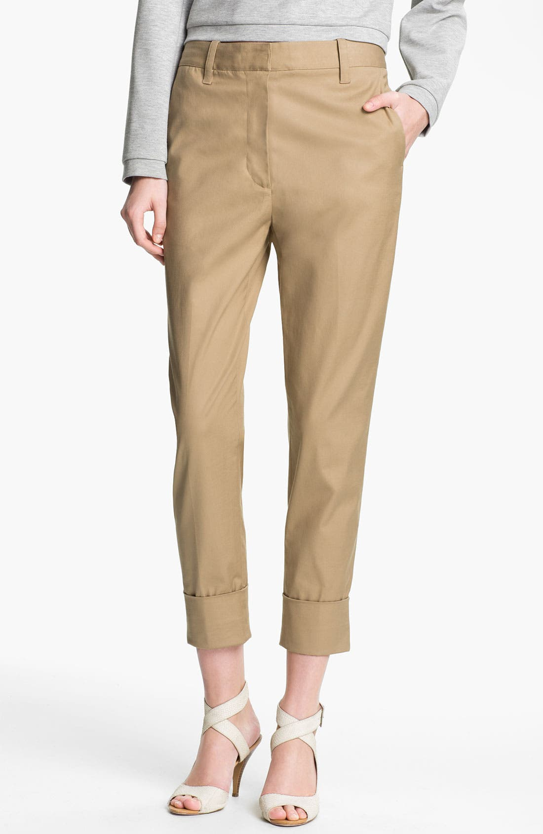 Alternate Image 1 Selected - 3.1 Phillip Lim Tapered Flat Front Trousers
