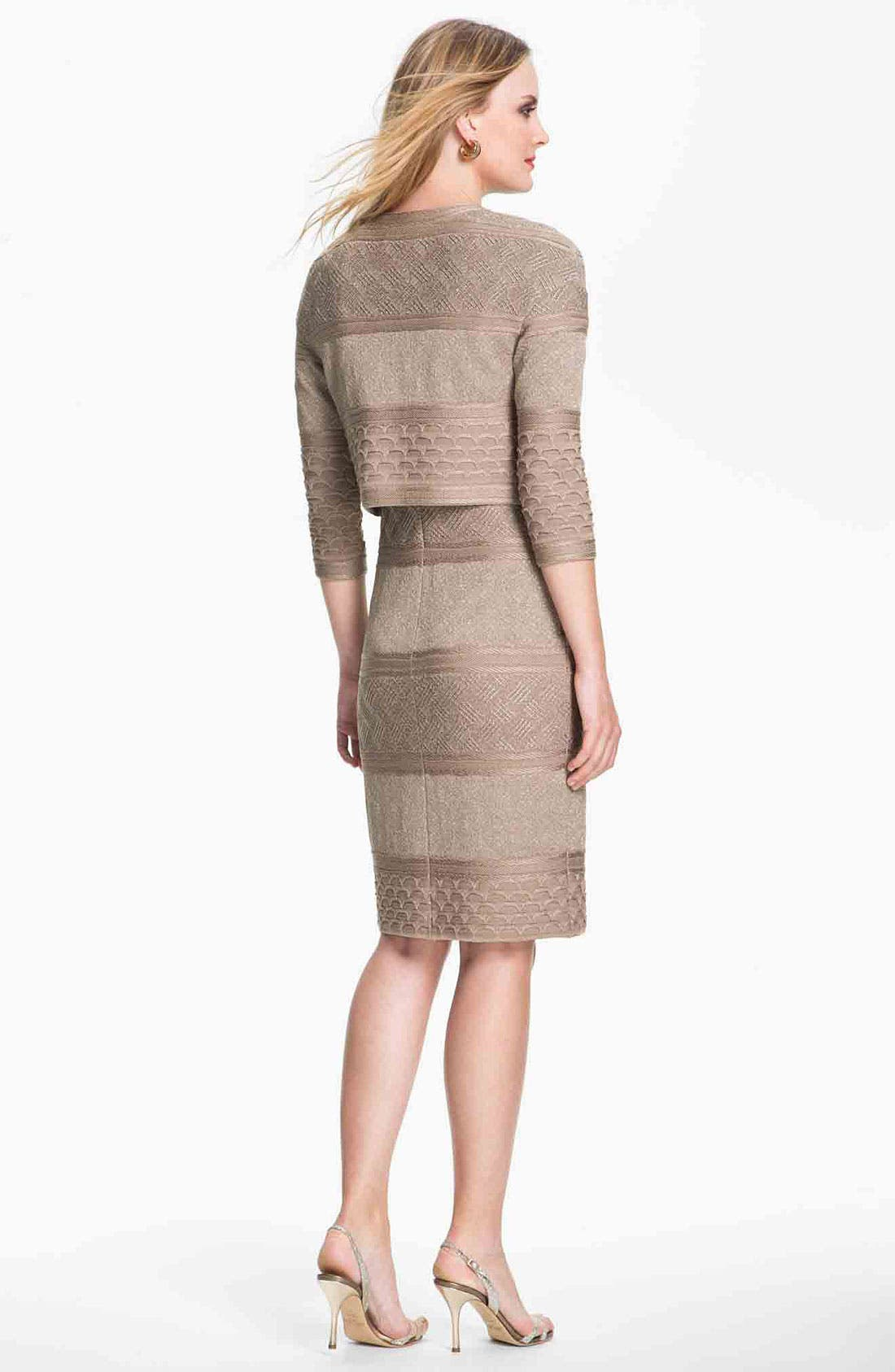 Alternate Image 4  - St. John Collection Textural Stripe Dress