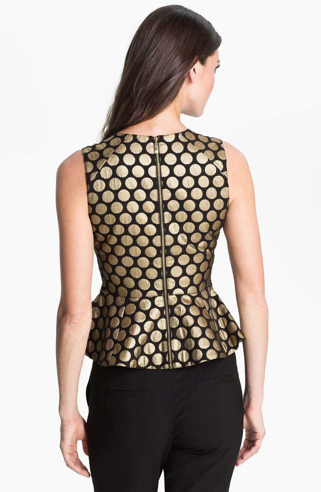 Alternate Image 2  - Vince Camuto Metallic Dot Jacquard Blouse