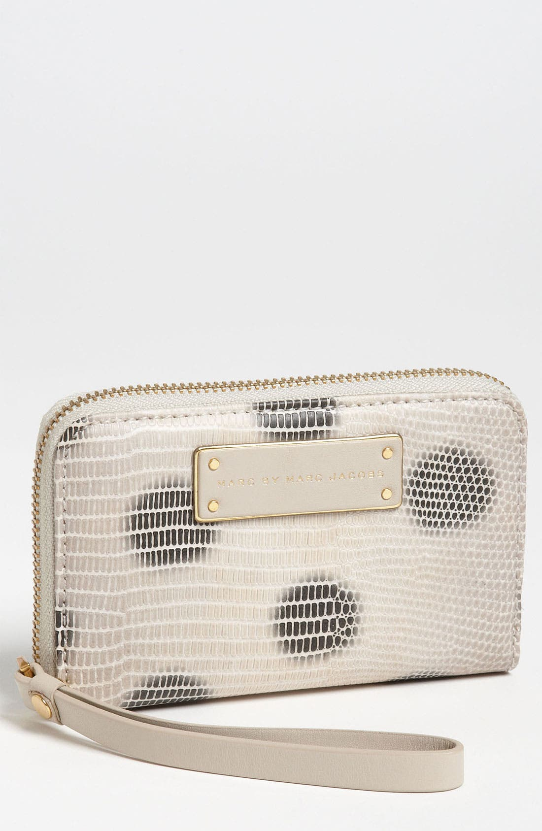 Main Image - MARC BY MARC JACOBS 'Take Me Wingman - Lizzie Spot' Embossed Phone Wallet