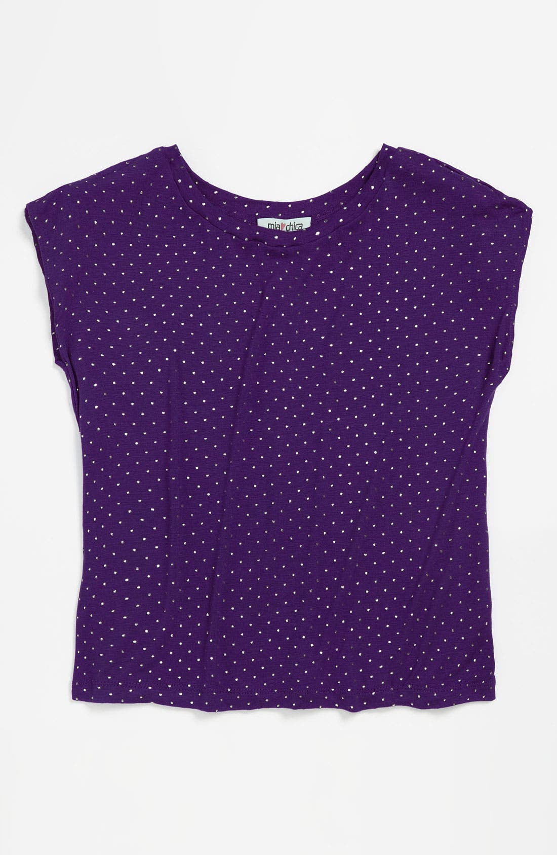 Alternate Image 1 Selected - Mia Chica Studded Top (Little Girls & Big Girls)