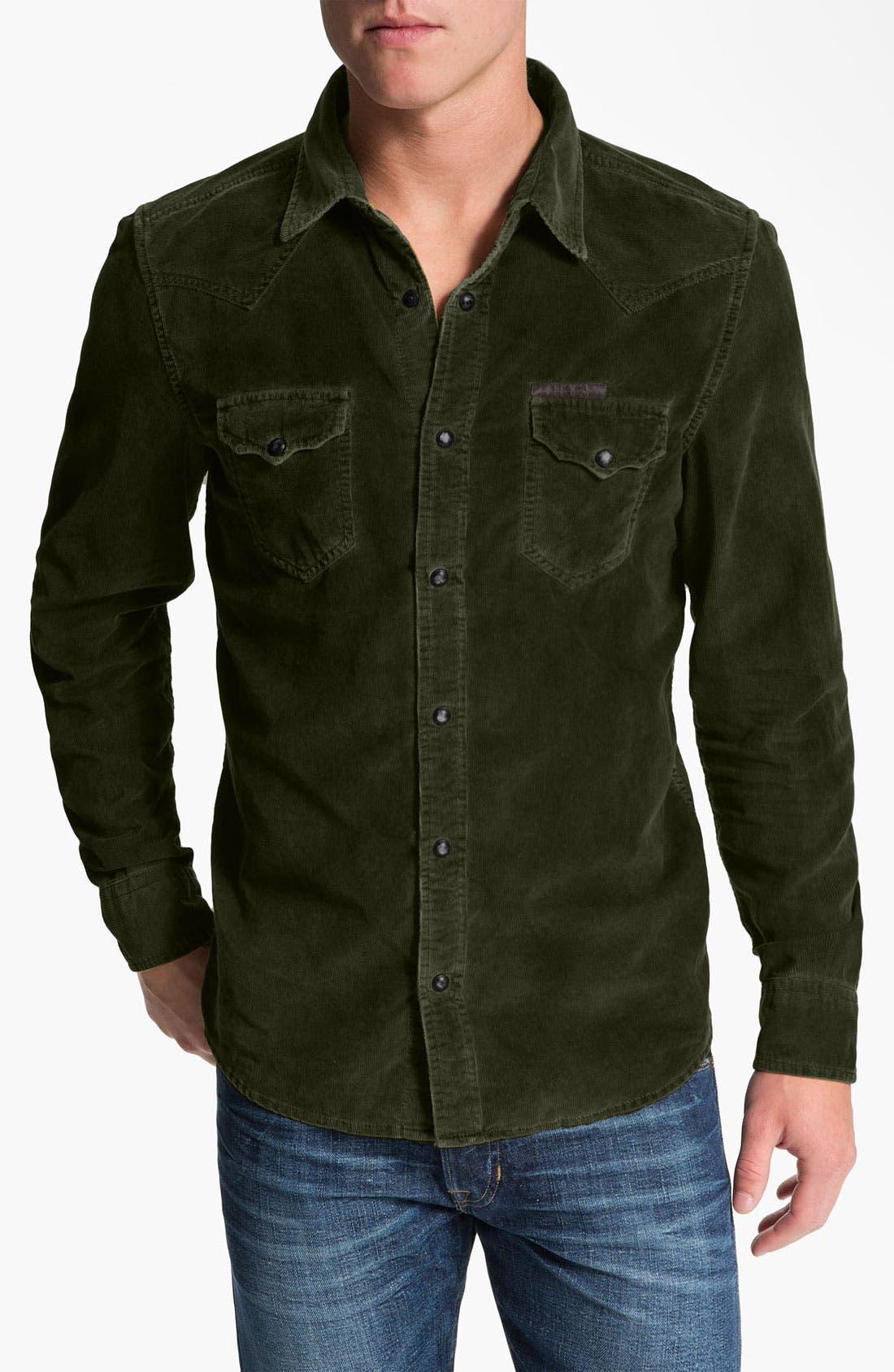Alternate Image 1 Selected - DIESEL® 'Svarog' Corduroy Shirt