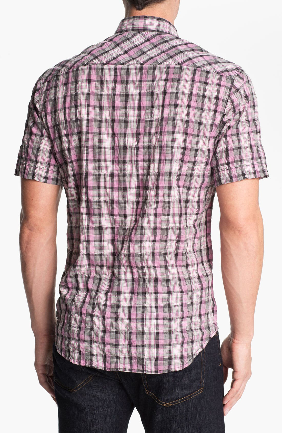 Alternate Image 2  - James Campbell 'Moclips' Plaid Sport Shirt
