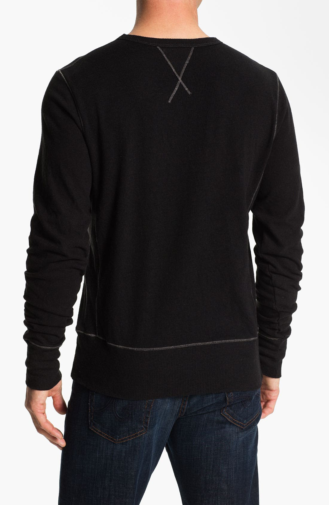 Alternate Image 2  - AG Jeans Crewneck Pullover