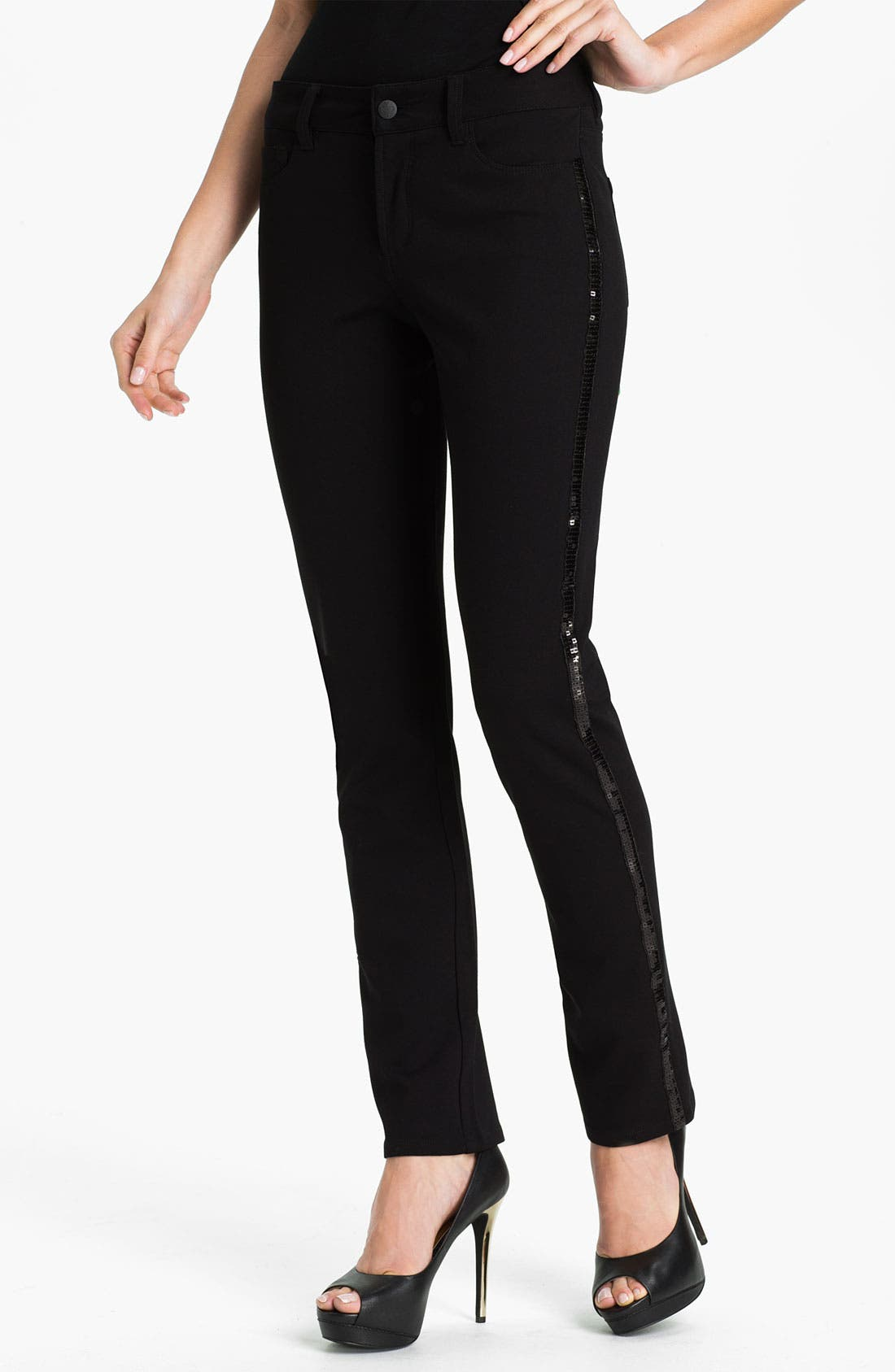 Alternate Image 1 Selected - NYDJ 'Sheri - Tuxedo' Skinny Twill Jeans