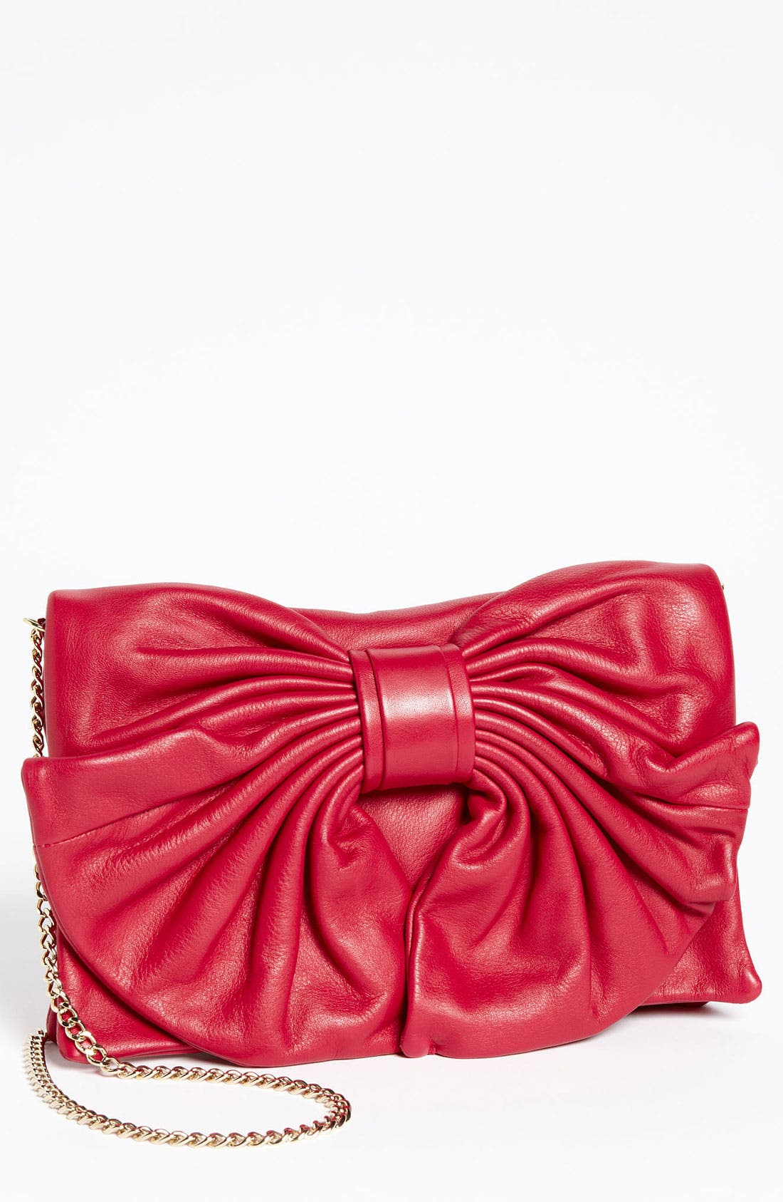 Main Image - RED Valentino 'Bow' Leather Clutch