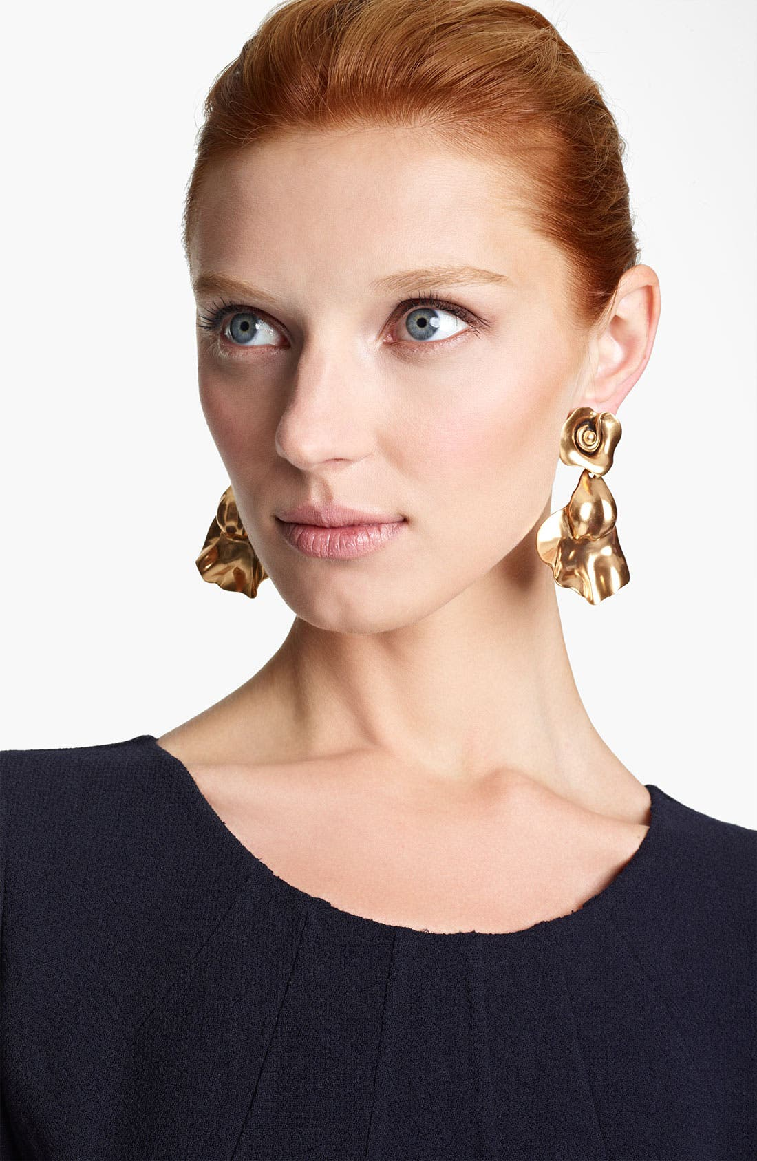 Alternate Image 1 Selected - Oscar de la Renta Rose Petal Clip Earrings