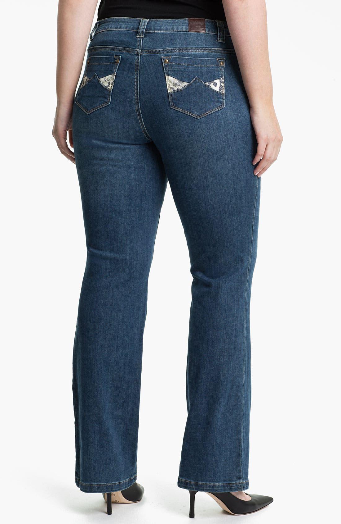 Alternate Image 2  - Mynt 1792 'Broadway' Bootcut Jeans (Plus)