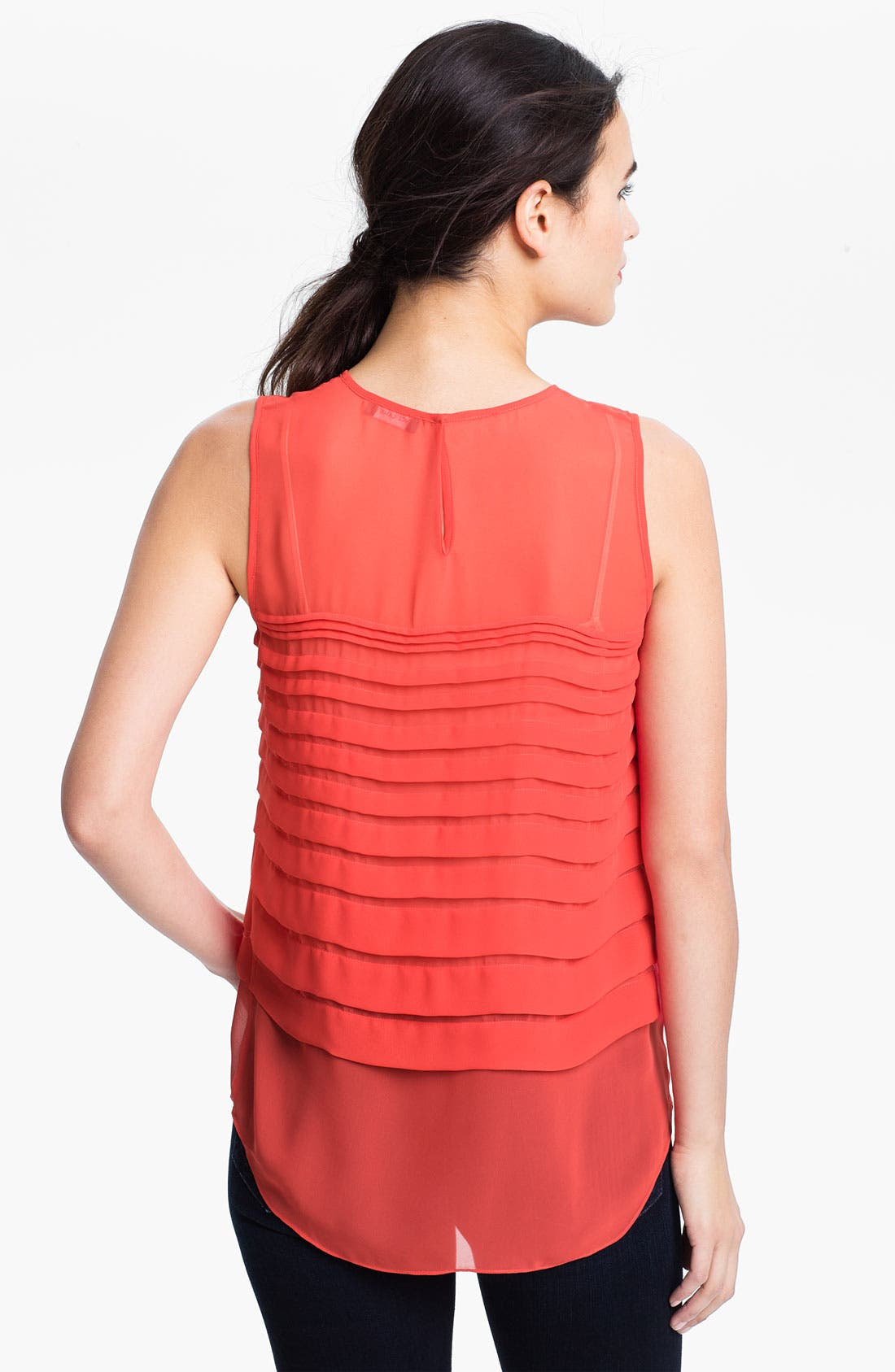 Alternate Image 2  - Vince Camuto Tiered Pleat Shell