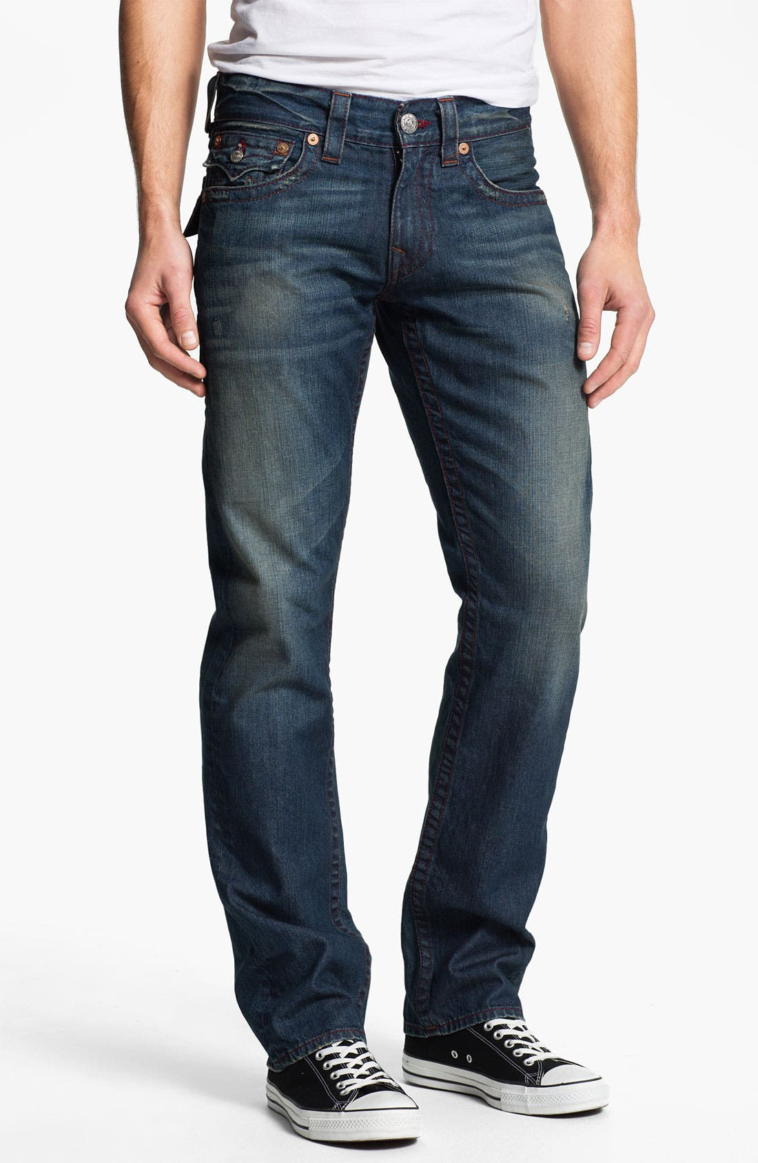 Alternate Image 2  - True Religion Brand Jeans 'Ricky' Straight Leg Jeans (Dark Drifter)