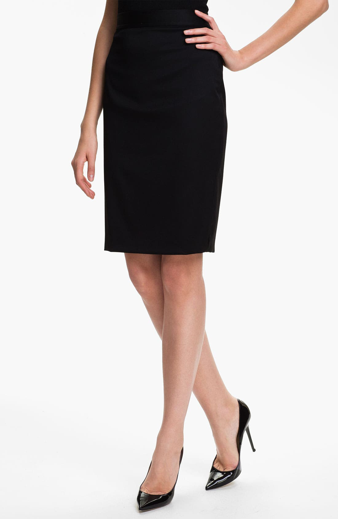Alternate Image 1 Selected - St. John Collection Stretch Venetian Wool Pencil Skirt