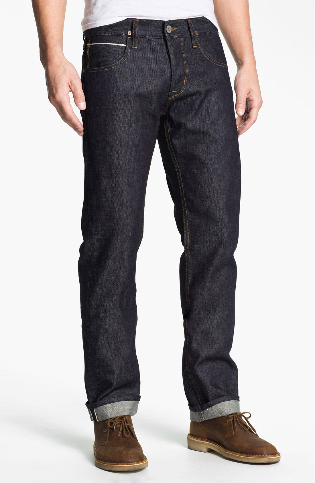 Alternate Image 2  - Hudson Jeans 'Byron' Straight Leg Jeans (Turbotech Selvage)