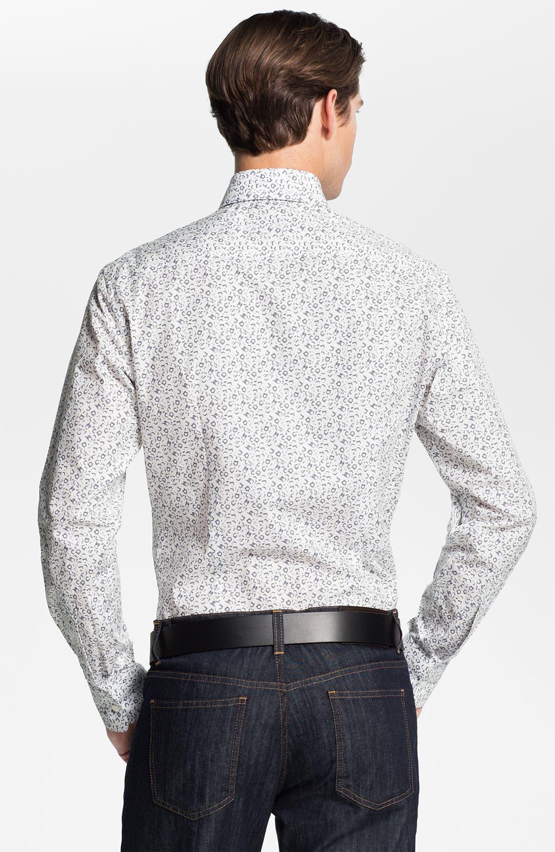 Alternate Image 2  - Salvatore Ferragamo Trim Fit Sport Shirt