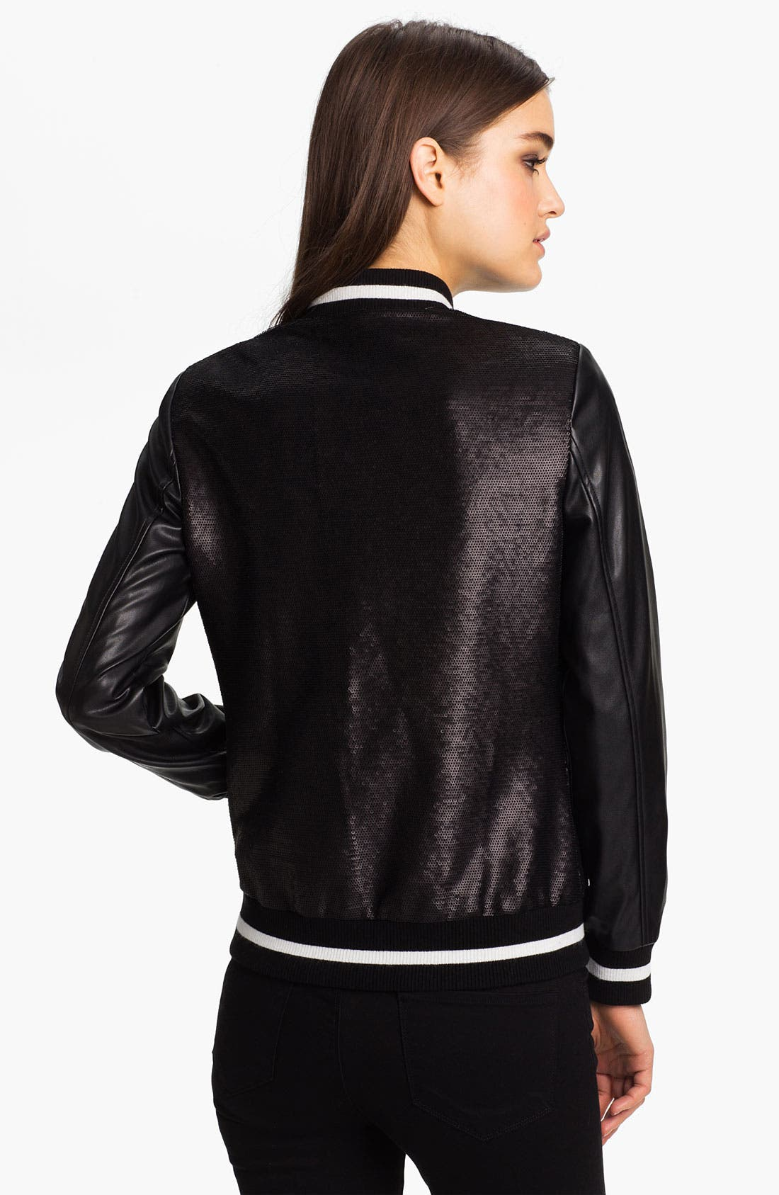 Alternate Image 2  - Mural Sequin Bomber Jacket