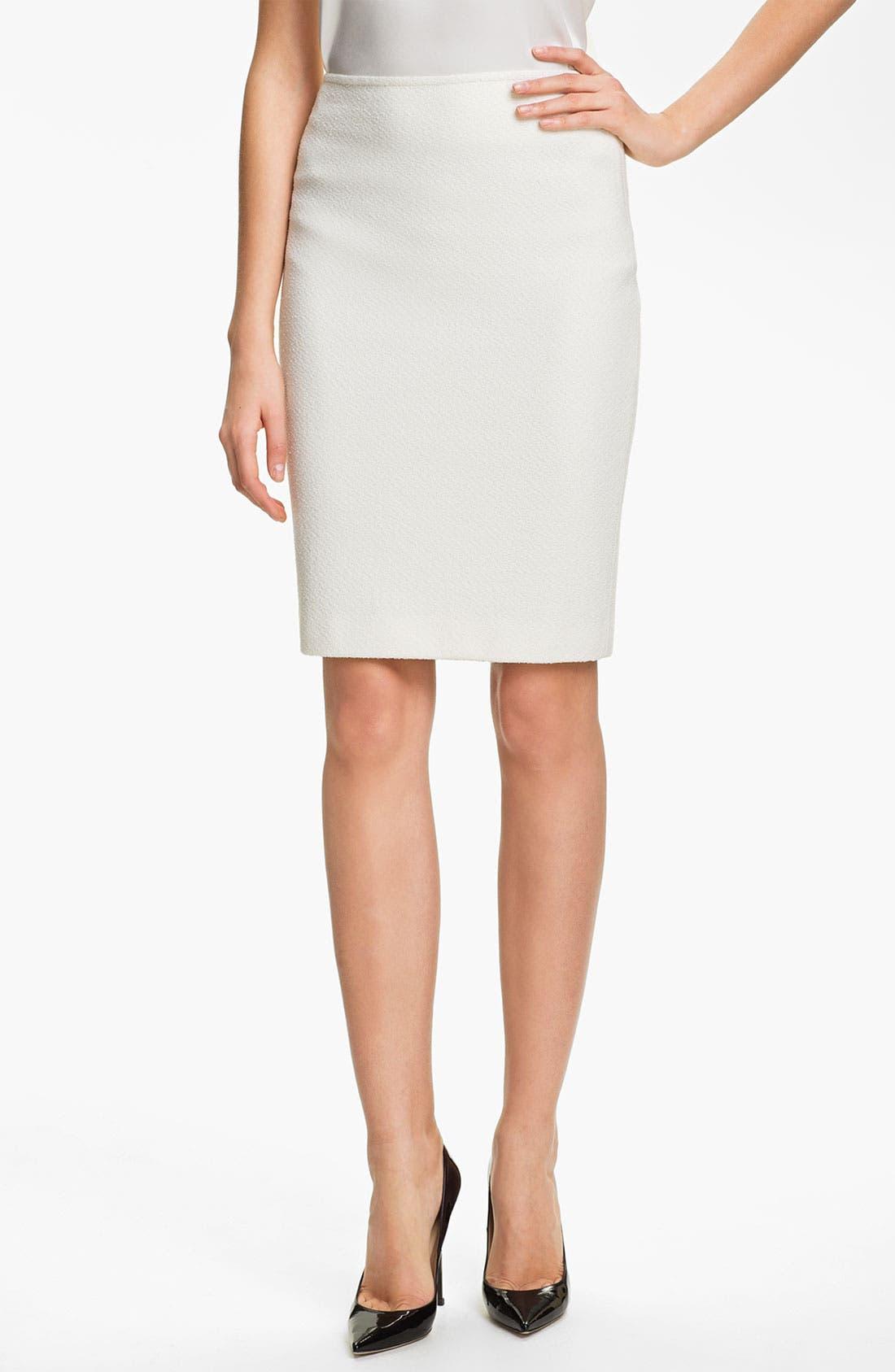 Main Image - St. John Collection Cosmopolitan Tweed Pencil Skirt