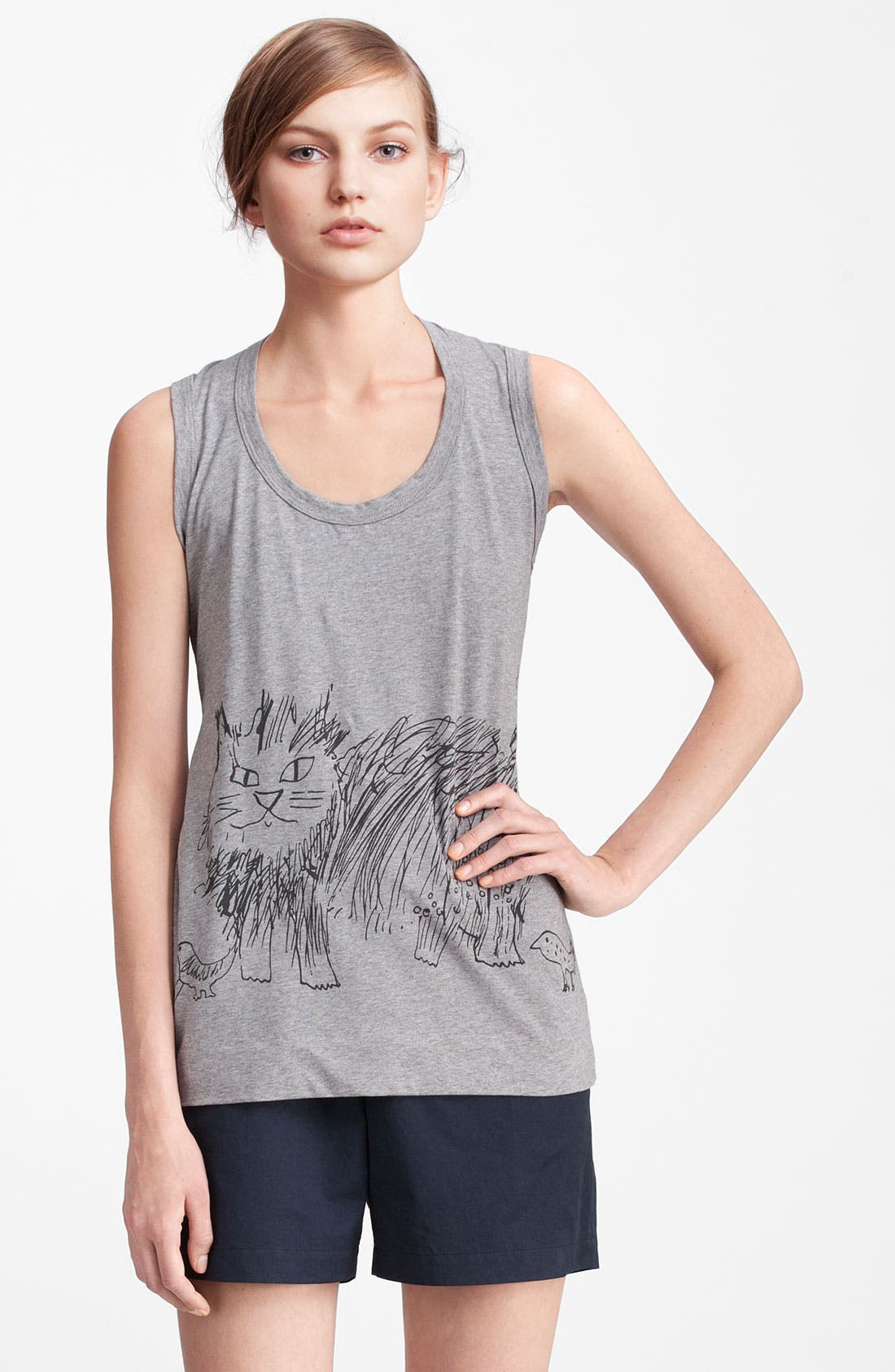 Alternate Image 1 Selected - Marni Edition Cat Print Knit Tank