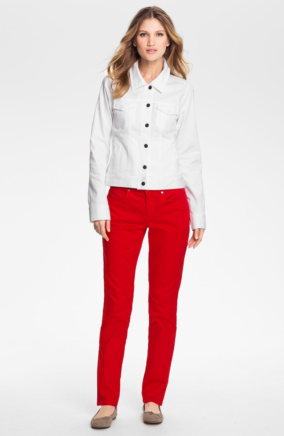 Alternate Image 4  - Eileen Fisher Organic Stretch Cotton Denim Jacket