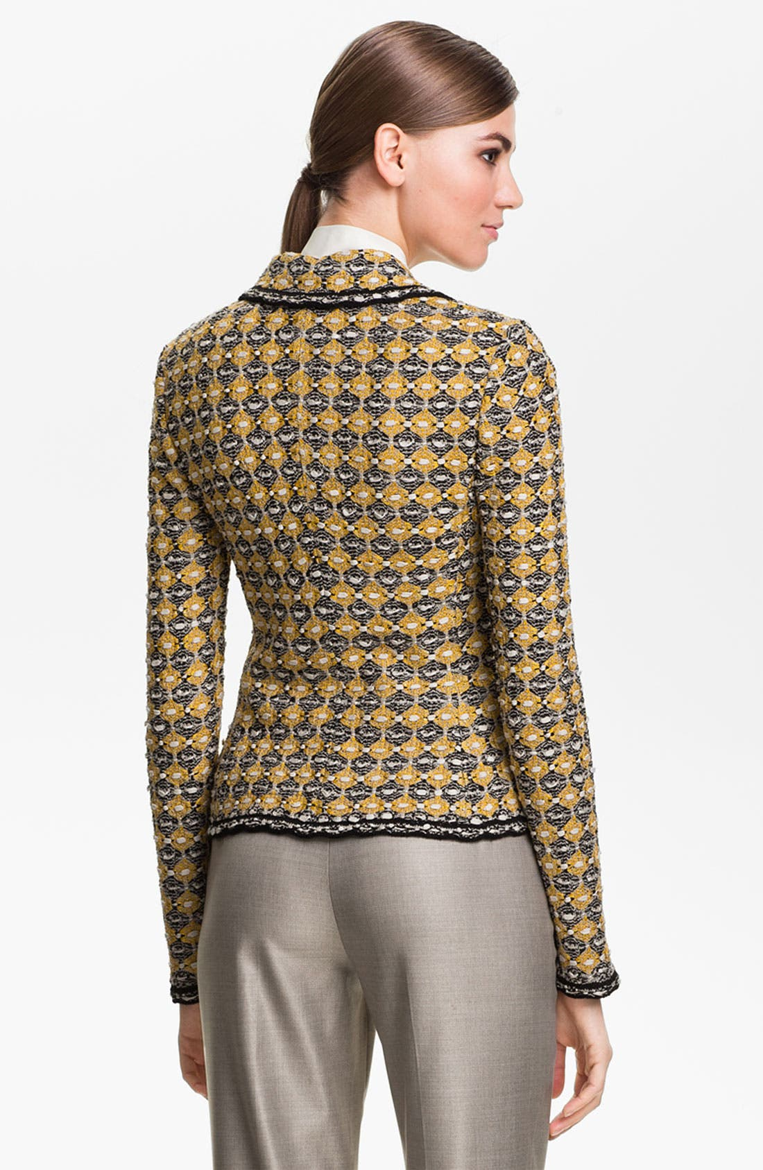 Alternate Image 4  - St. John Collection Geometric Tweed Jacket
