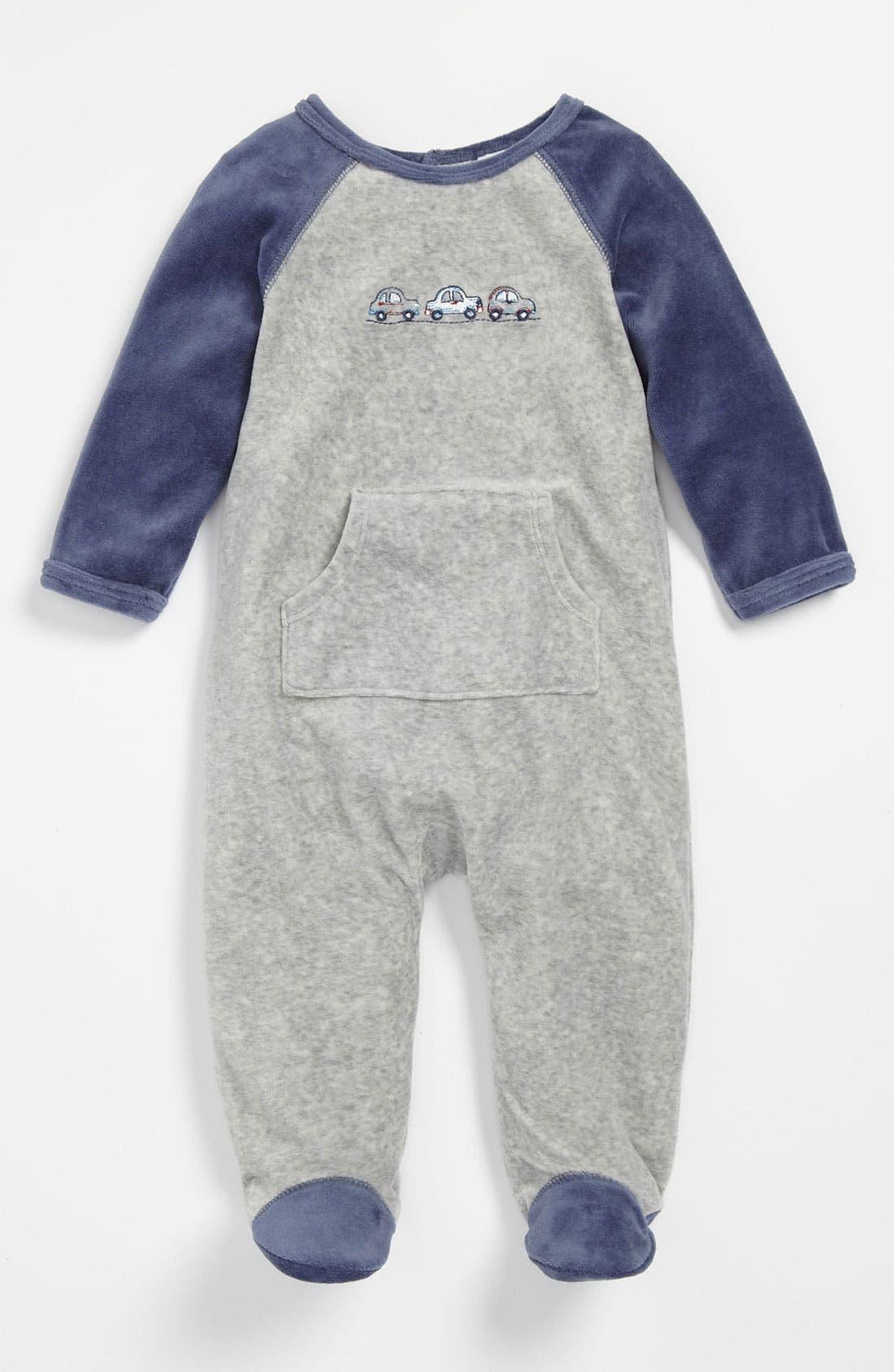 Main Image - Little Me Velour Footie (Infant)