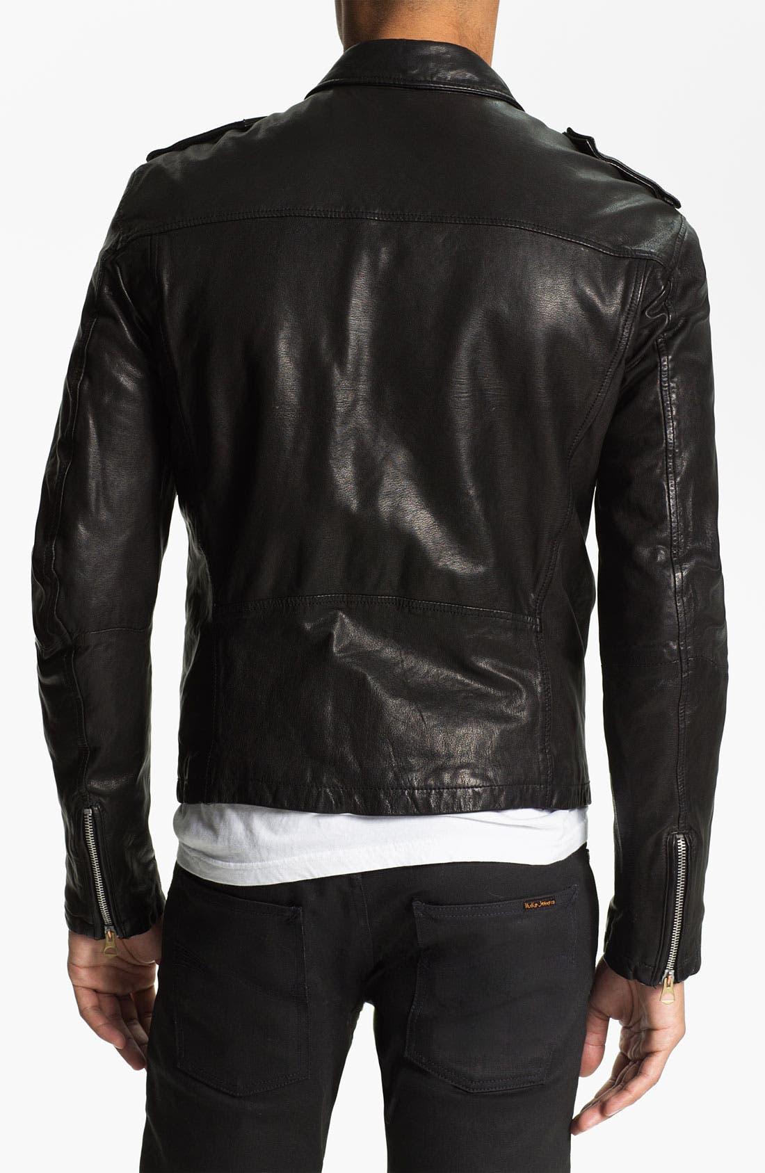 Alternate Image 2  - Scotch & Soda 'Rocker' Leather Jacket