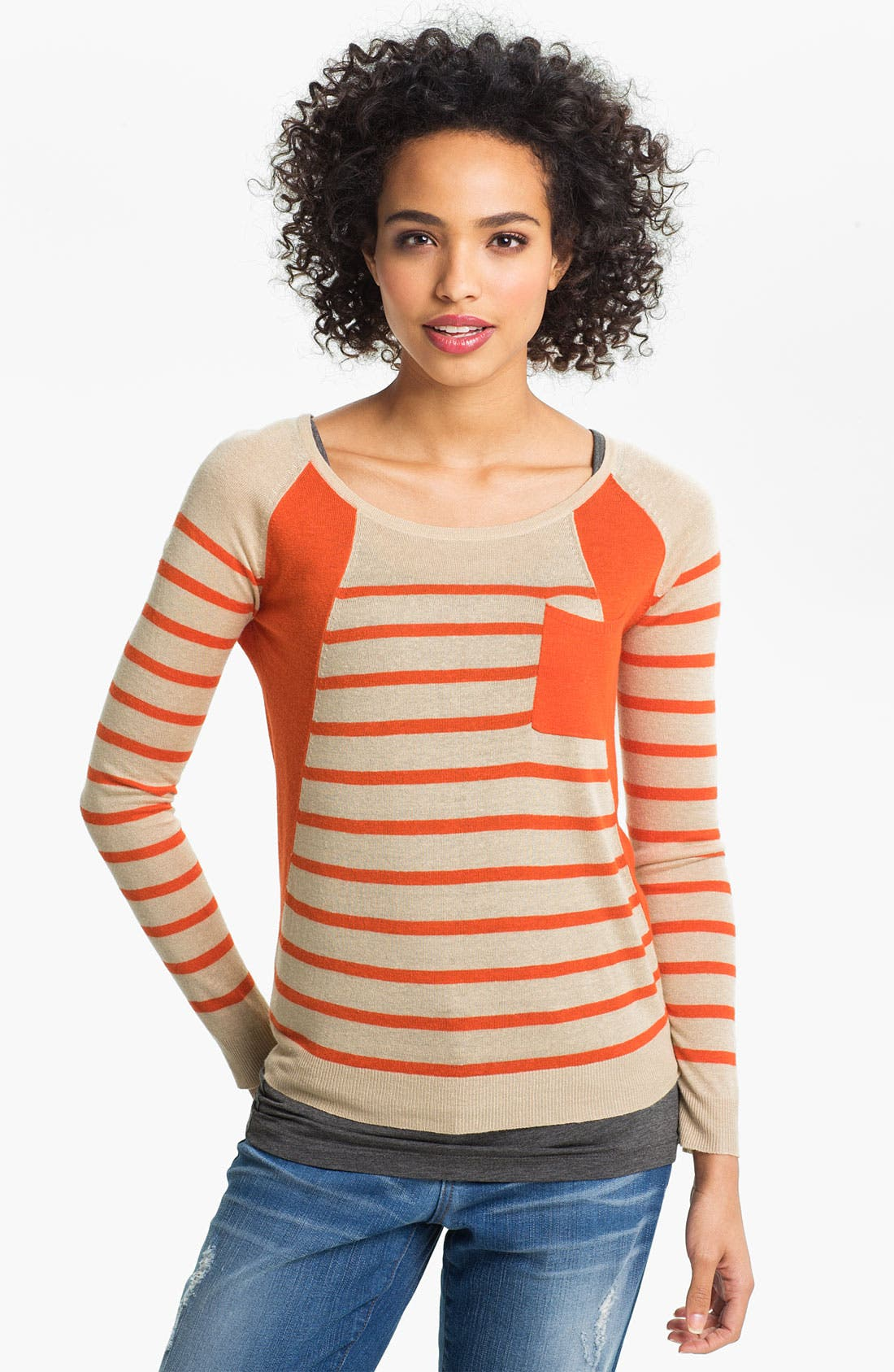 Alternate Image 1 Selected - Two by Vince Camuto Colorblock Stripe Sweater