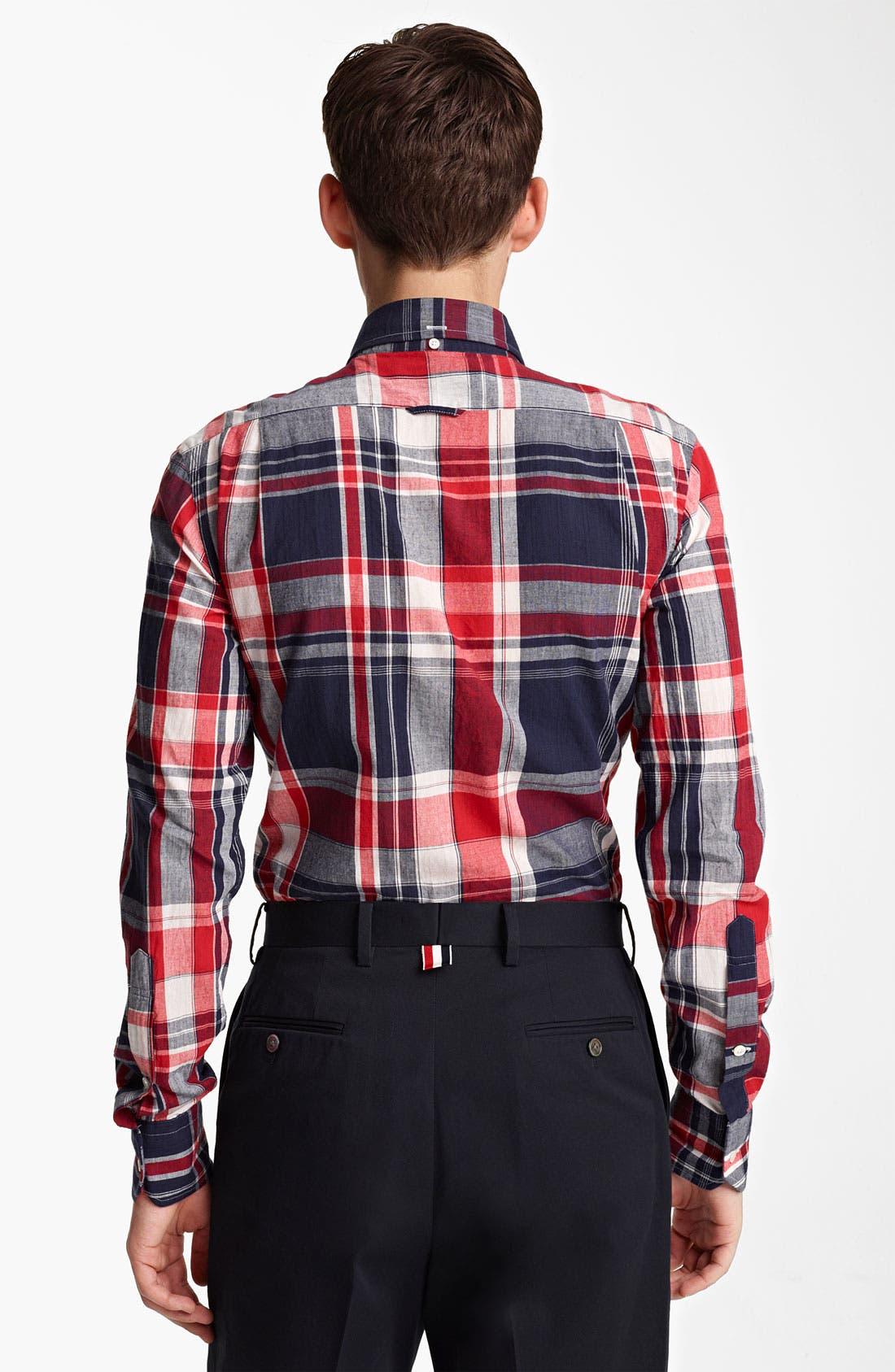 Alternate Image 2  - Thom Browne Madras Plaid Cotton Shirt