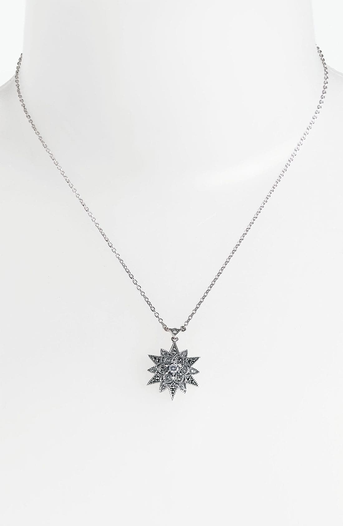 Alternate Image 1 Selected - Judith Jack Snowflake Pendant Necklace