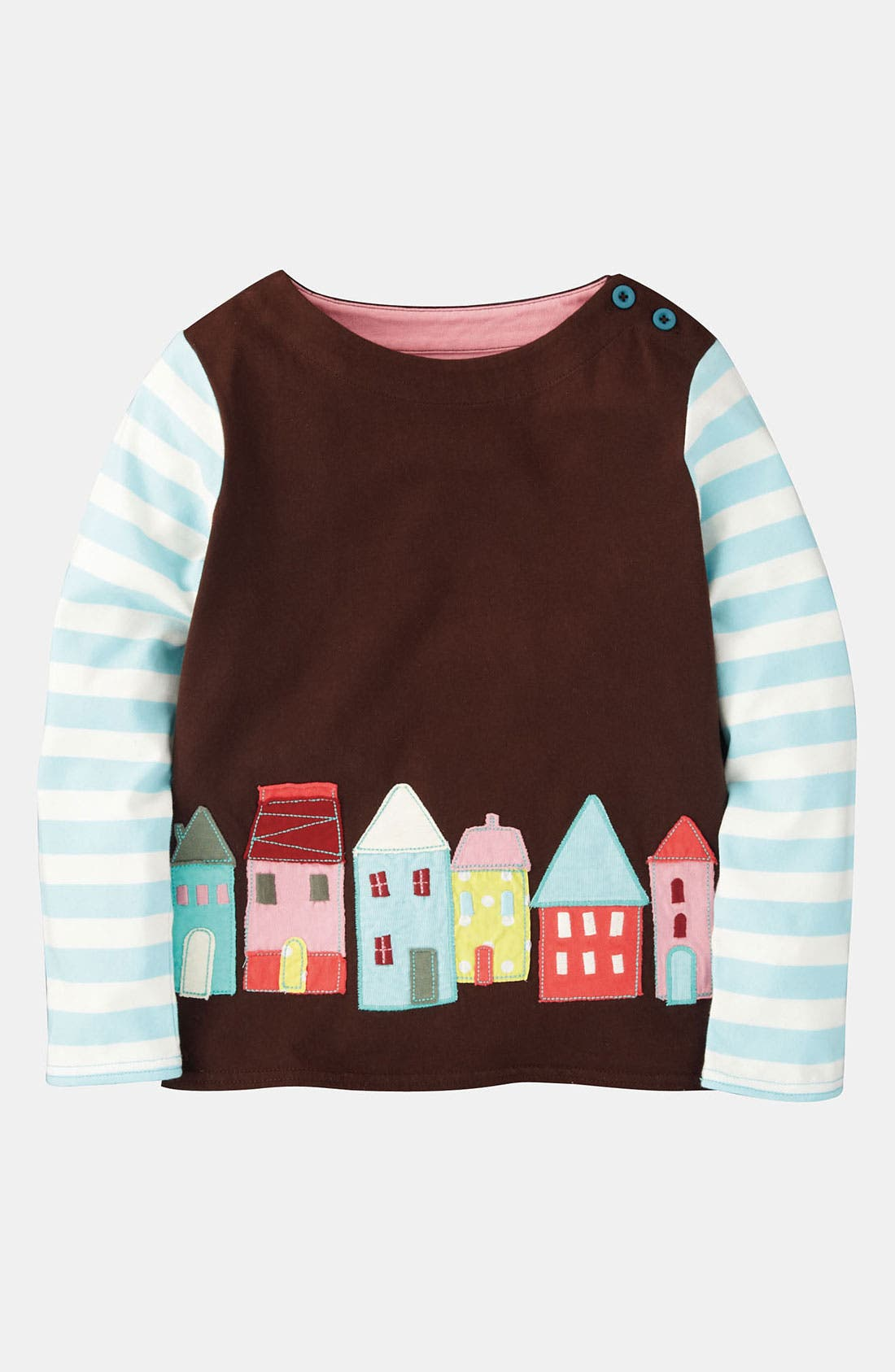 Main Image - Mini Boden 'Storybook' Appliqué Tee (Little Girls & Big Girls)