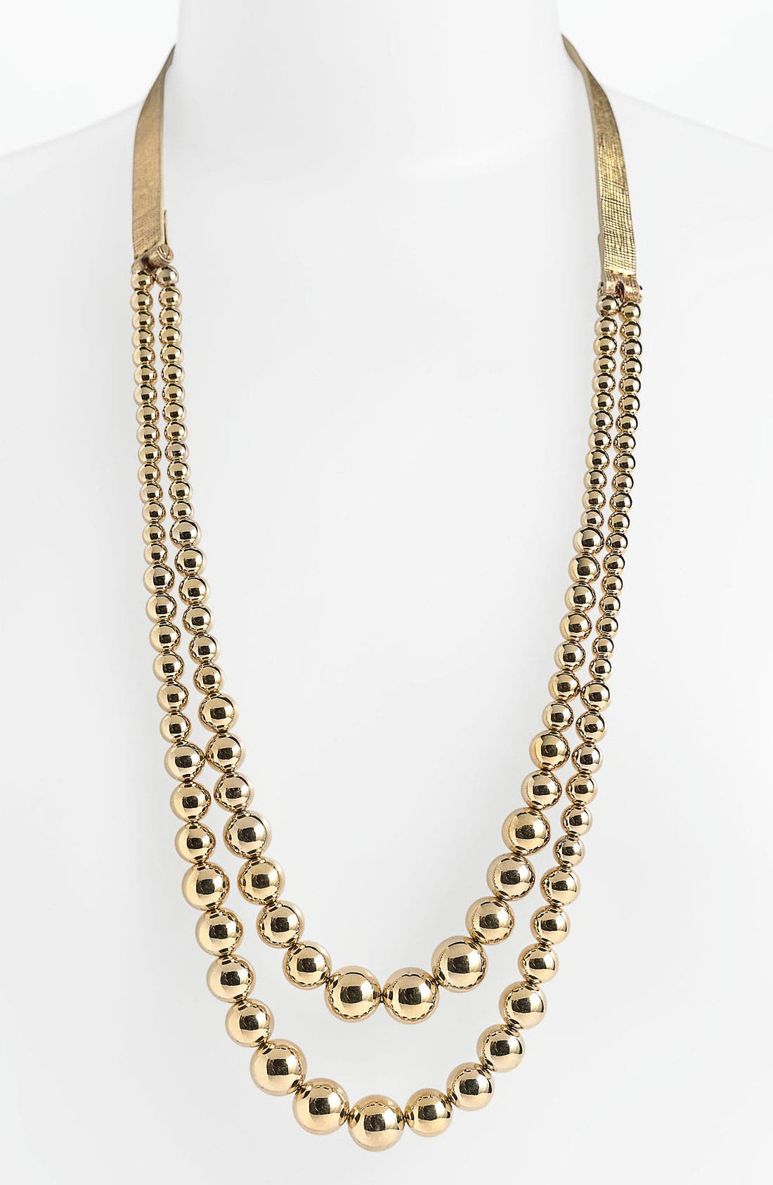 Main Image - Michael Kors Leather & Bead Necklace