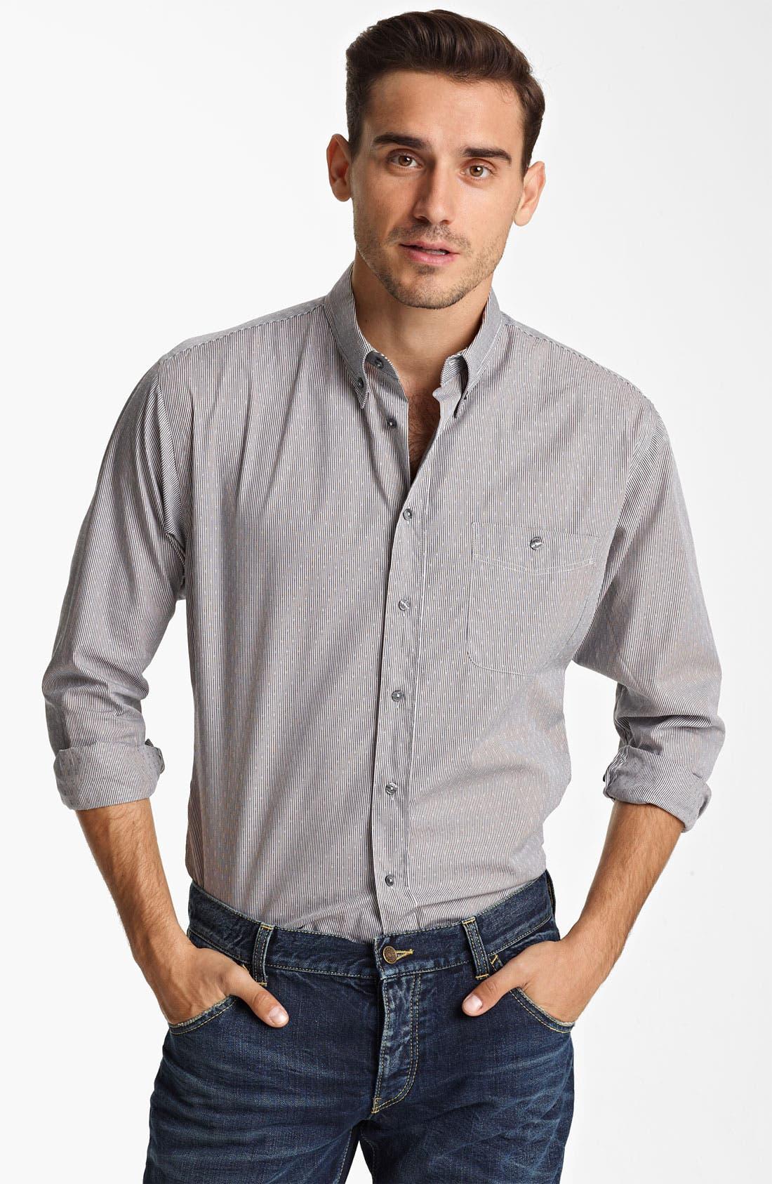 Alternate Image 1 Selected - Dolce&Gabbana Microstripe Woven Shirt