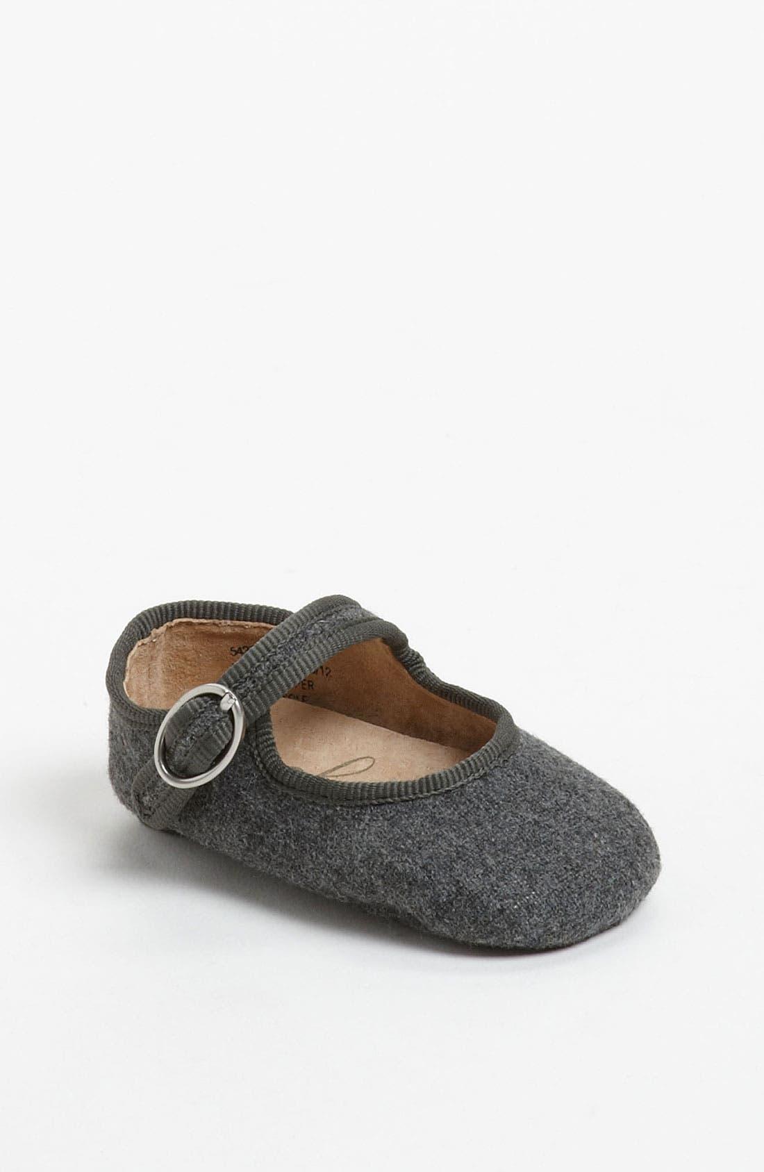 Alternate Image 1 Selected - Peek 'Baby Poet' Crib Shoe (Baby)