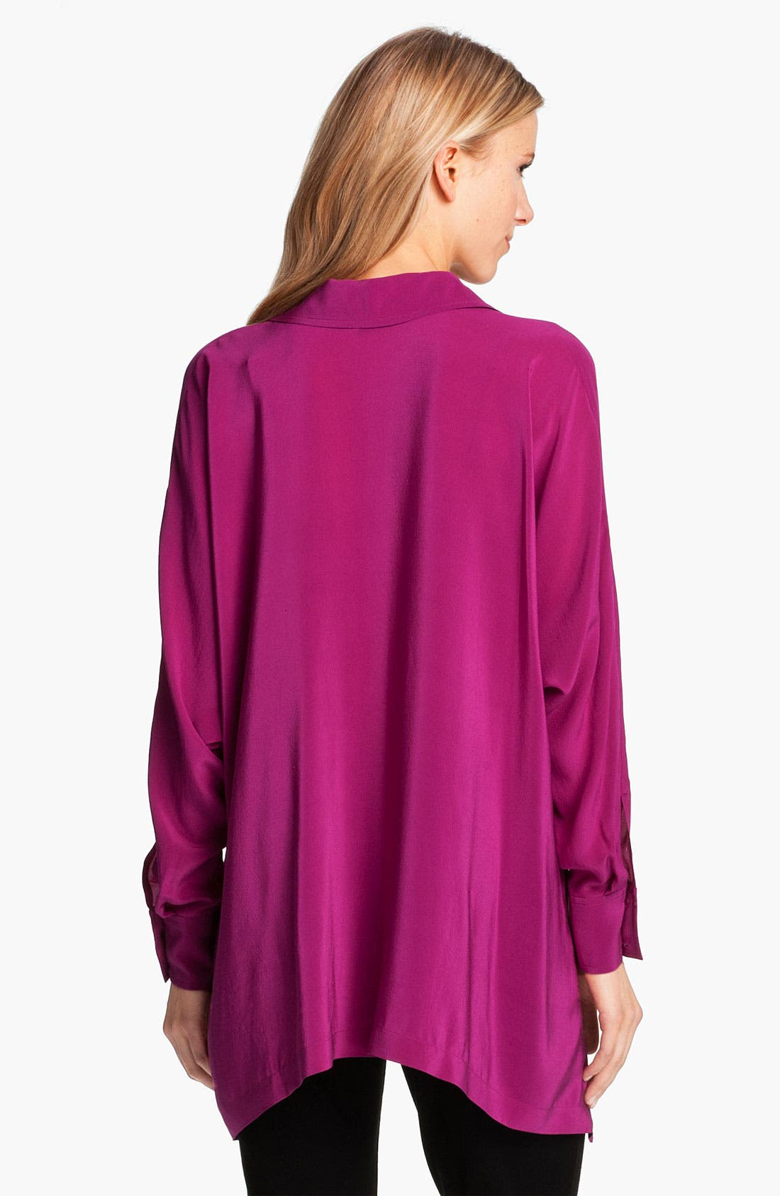 Alternate Image 2  - Eileen Fisher Boxy Silk Shirt