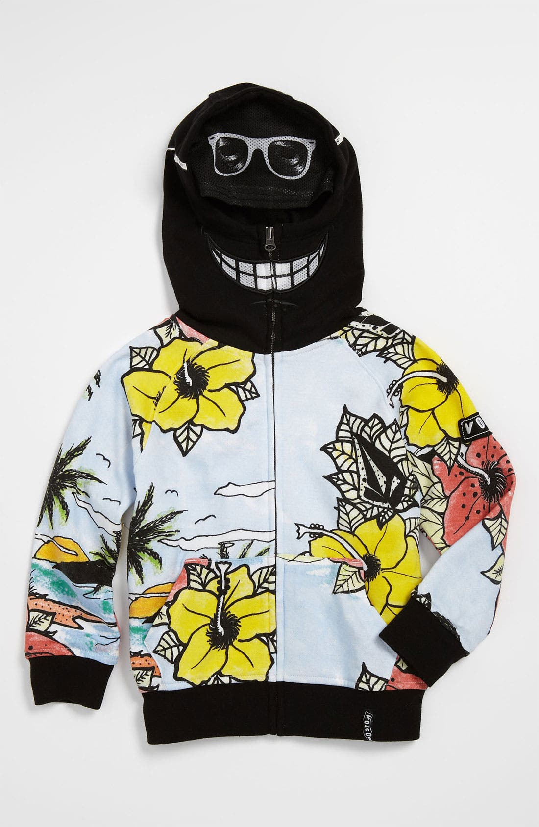Main Image - Volcom 'Vacation' Mask Hoodie (Toddler)