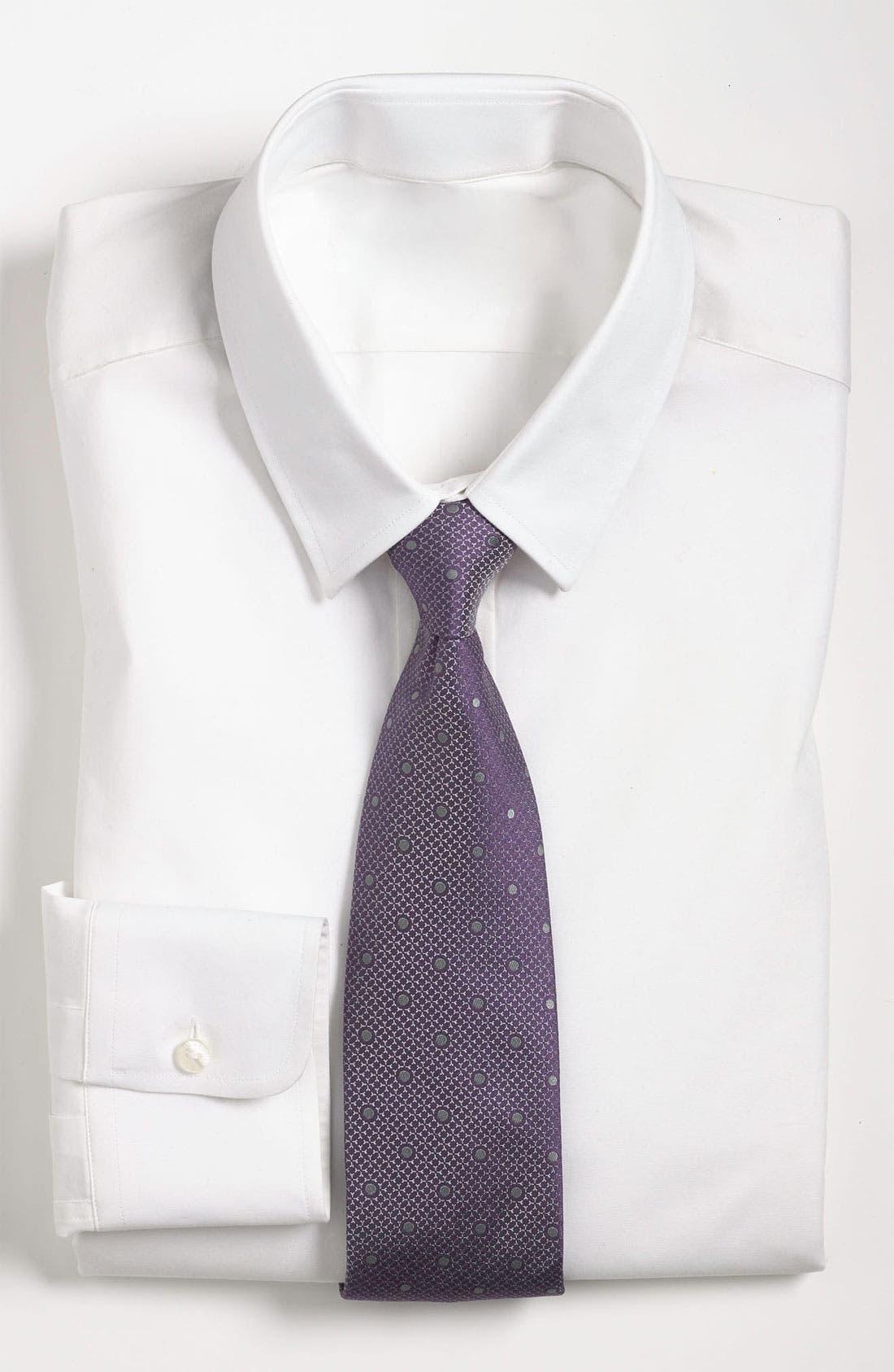 Main Image - Yves Saint Laurent Dot Woven Silk Tie