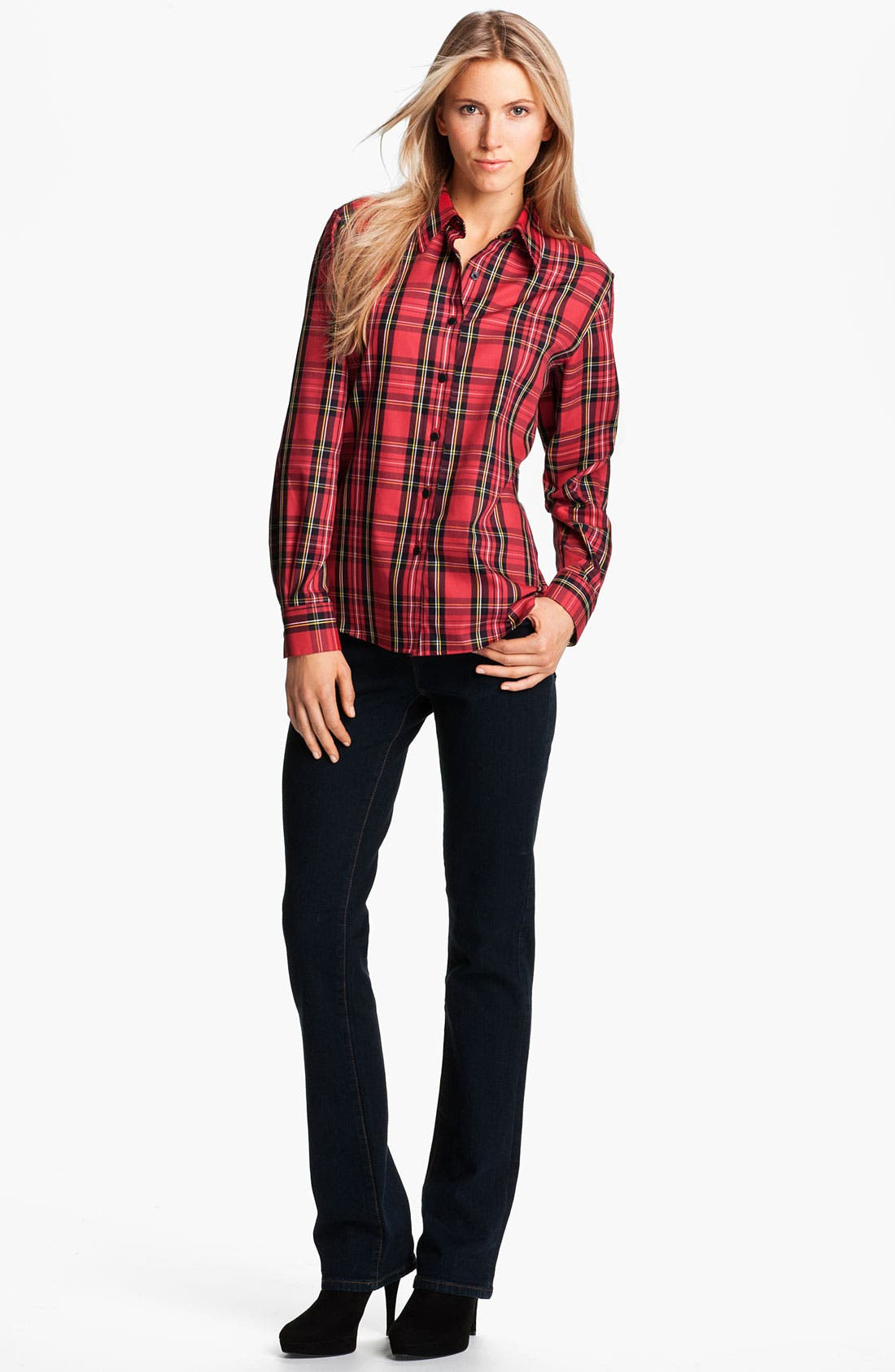 Alternate Image 4  - Foxcroft 'Classic Tartan' Shirt (Petite)