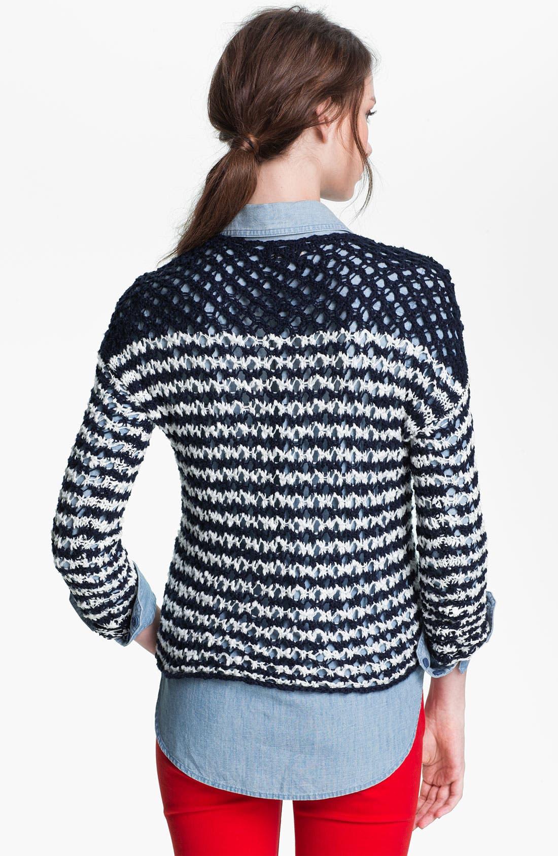 Alternate Image 2  - Lucky Brand 'Esther' Stripe Sweater