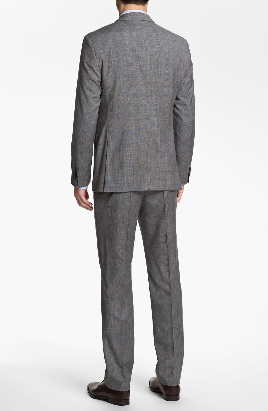 Alternate Image 5  - BOSS Black 'James/Sharp' Trim Fit Plaid Suit