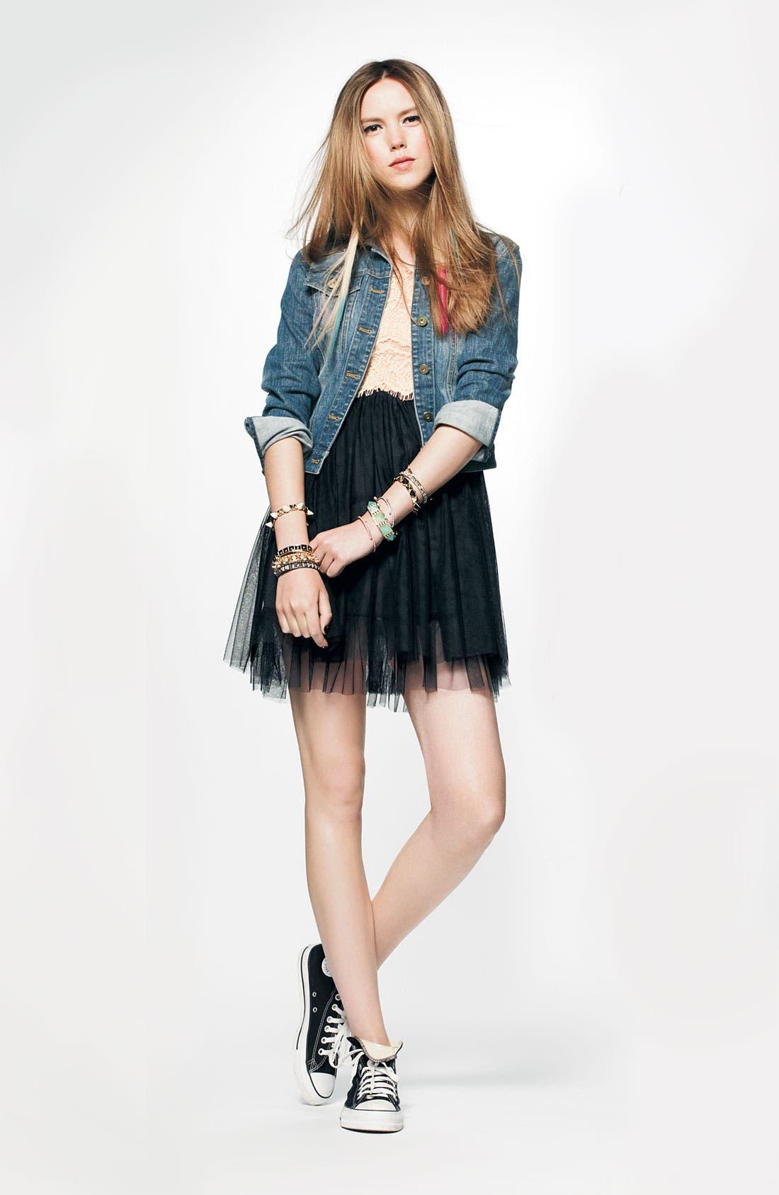 Alternate Image 3  - As U Wish Lace & Tulle Dress (Juniors)