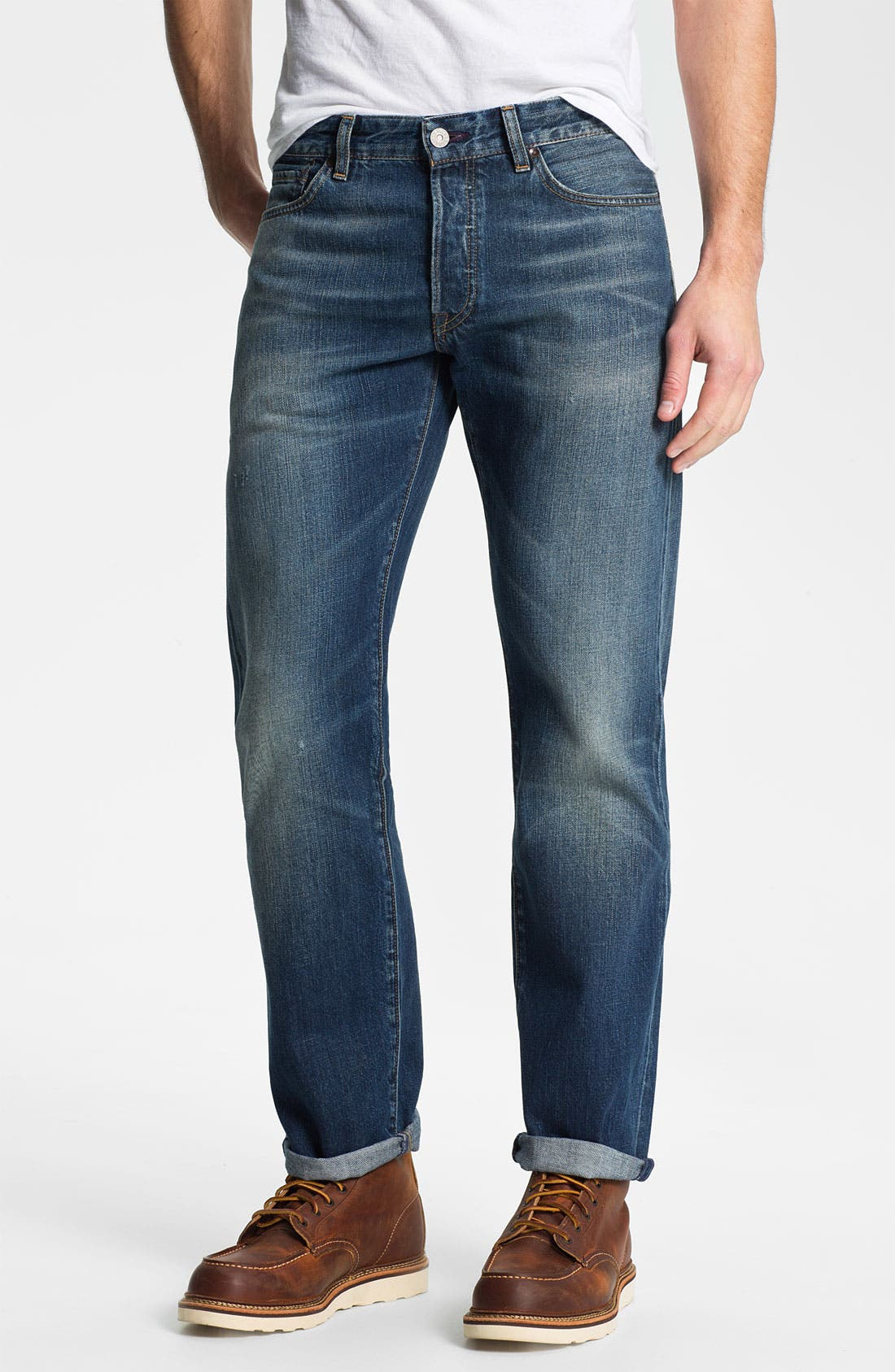 Alternate Image 1 Selected - Levi's® Made & Crafted™ 'Ruler' Straight Leg Jeans (Sparkling)
