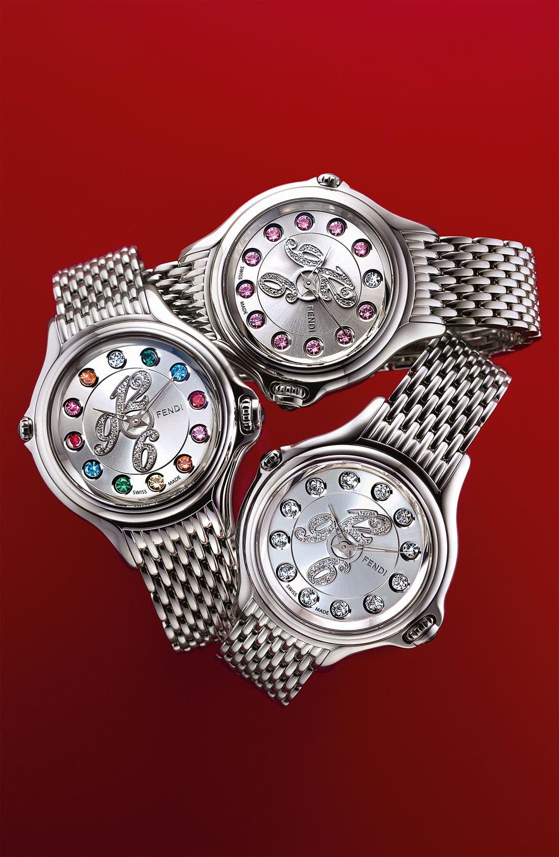 Alternate Image 4  - Fendi 'Crazy Carats' Diamond Dial Bracelet Watch, 38mm