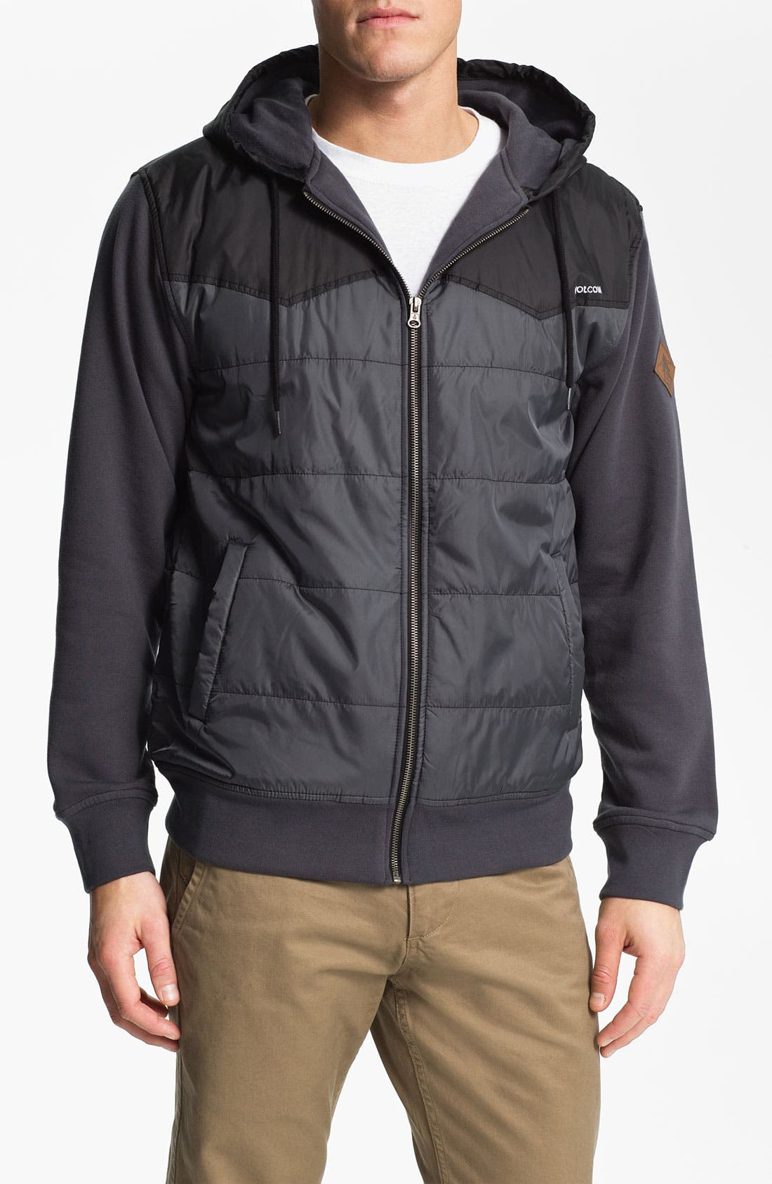 Main Image - Volcom 'Cane' Quilted Fleece Hoodie