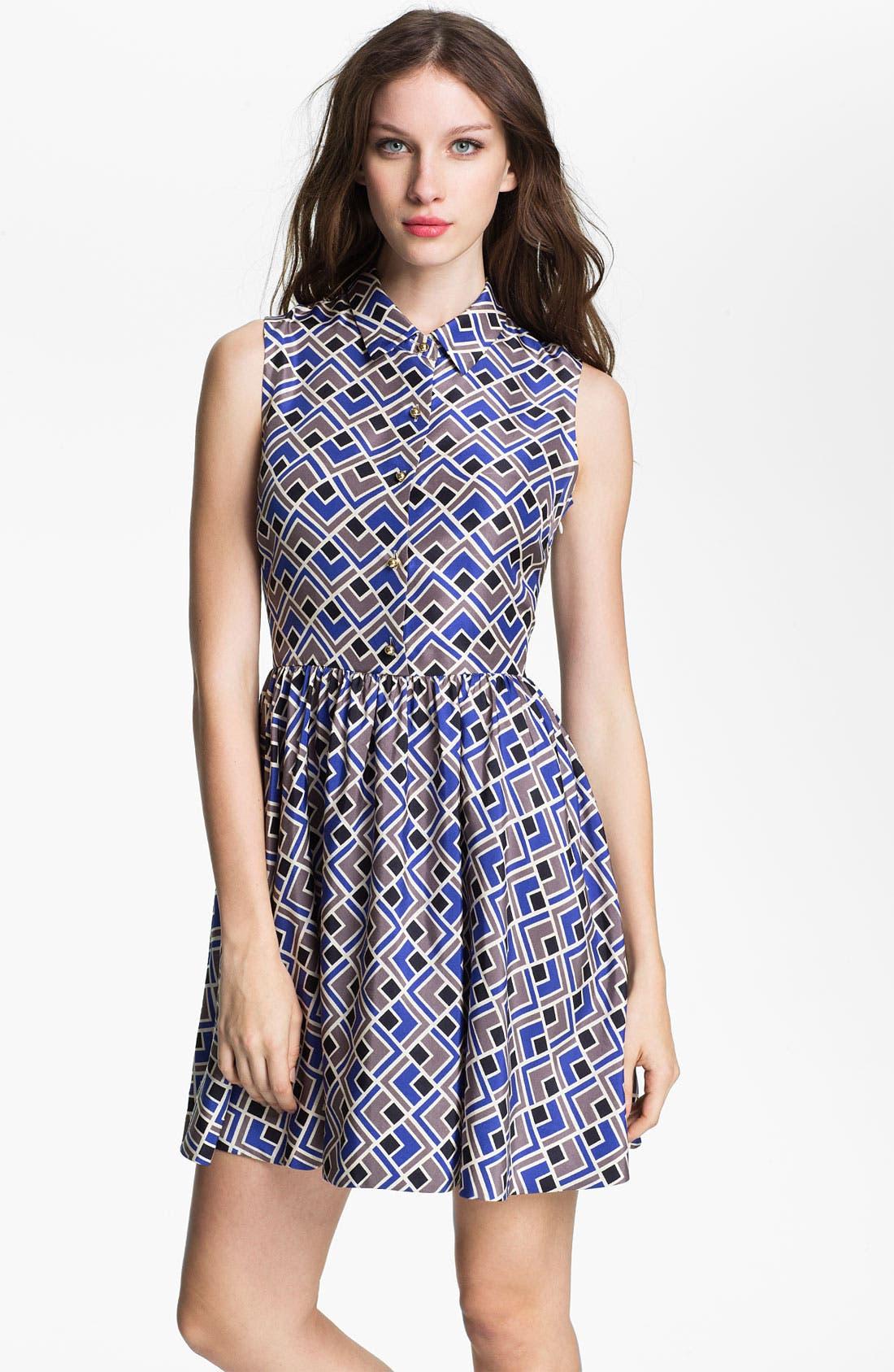 Main Image - kate spade new york 'lora' silk fit & flare dress