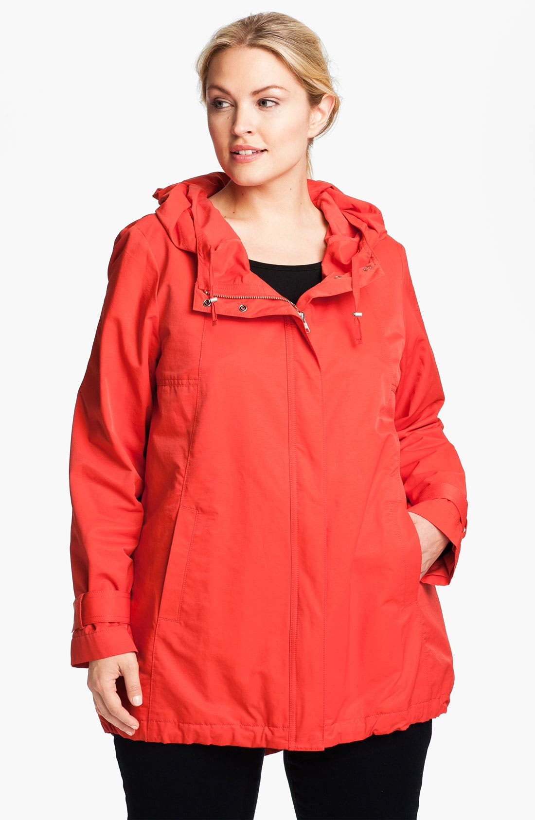 Main Image - Eileen Fisher Hooded Jacket (Plus)