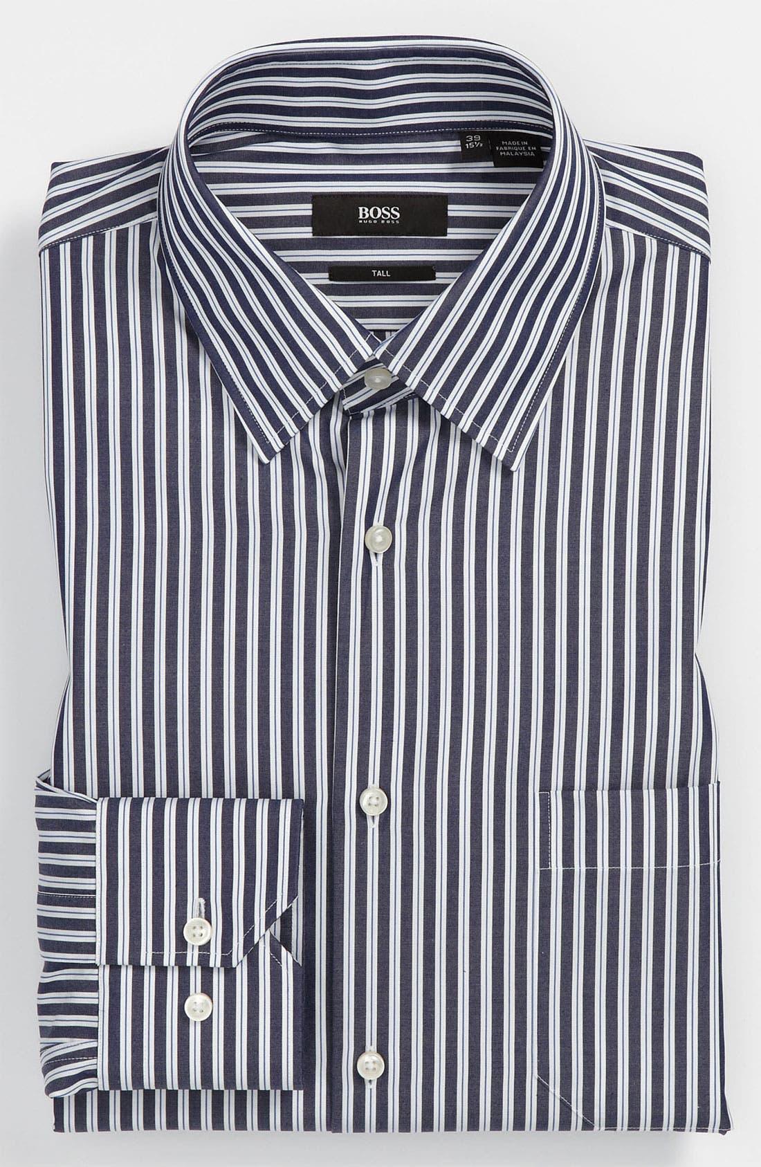 Main Image - BOSS Black Regular Fit Non-Iron Dress Shirt (Big & Tall) (Online Exclusive)