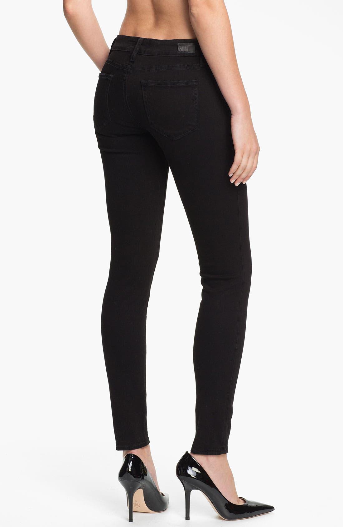 Alternate Image 2  - Paige Denim 'Edgemont' Skinny Jeans (Black)