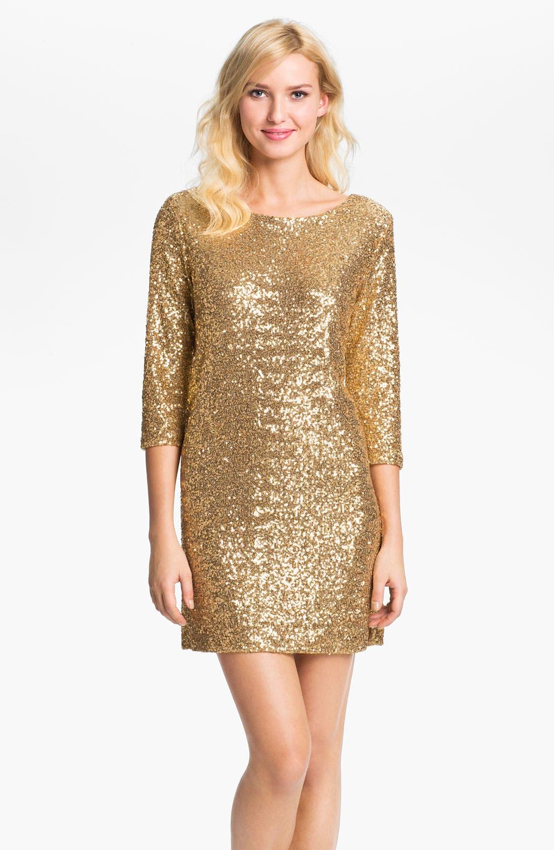 Main Image - Anne Klein Sequin Dress (Online Exclusive)